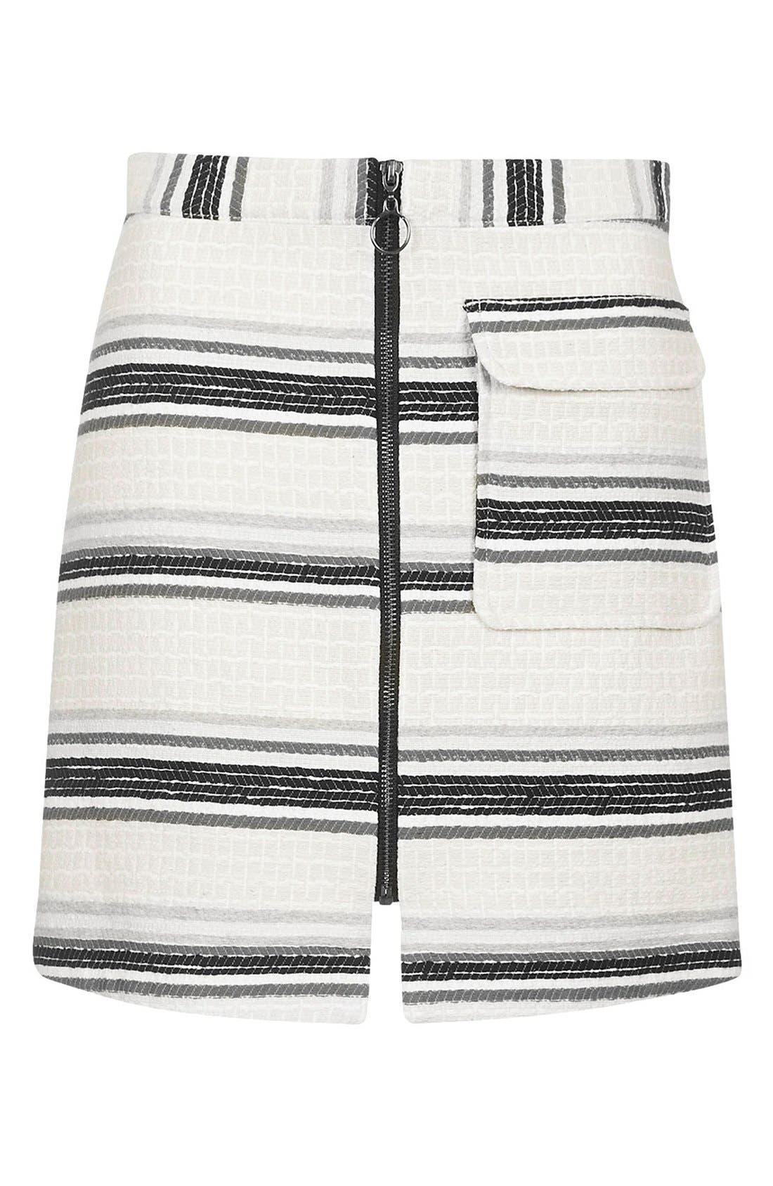 Alternate Image 3  - Topshop Zip Through A-Line Skirt (Petite)