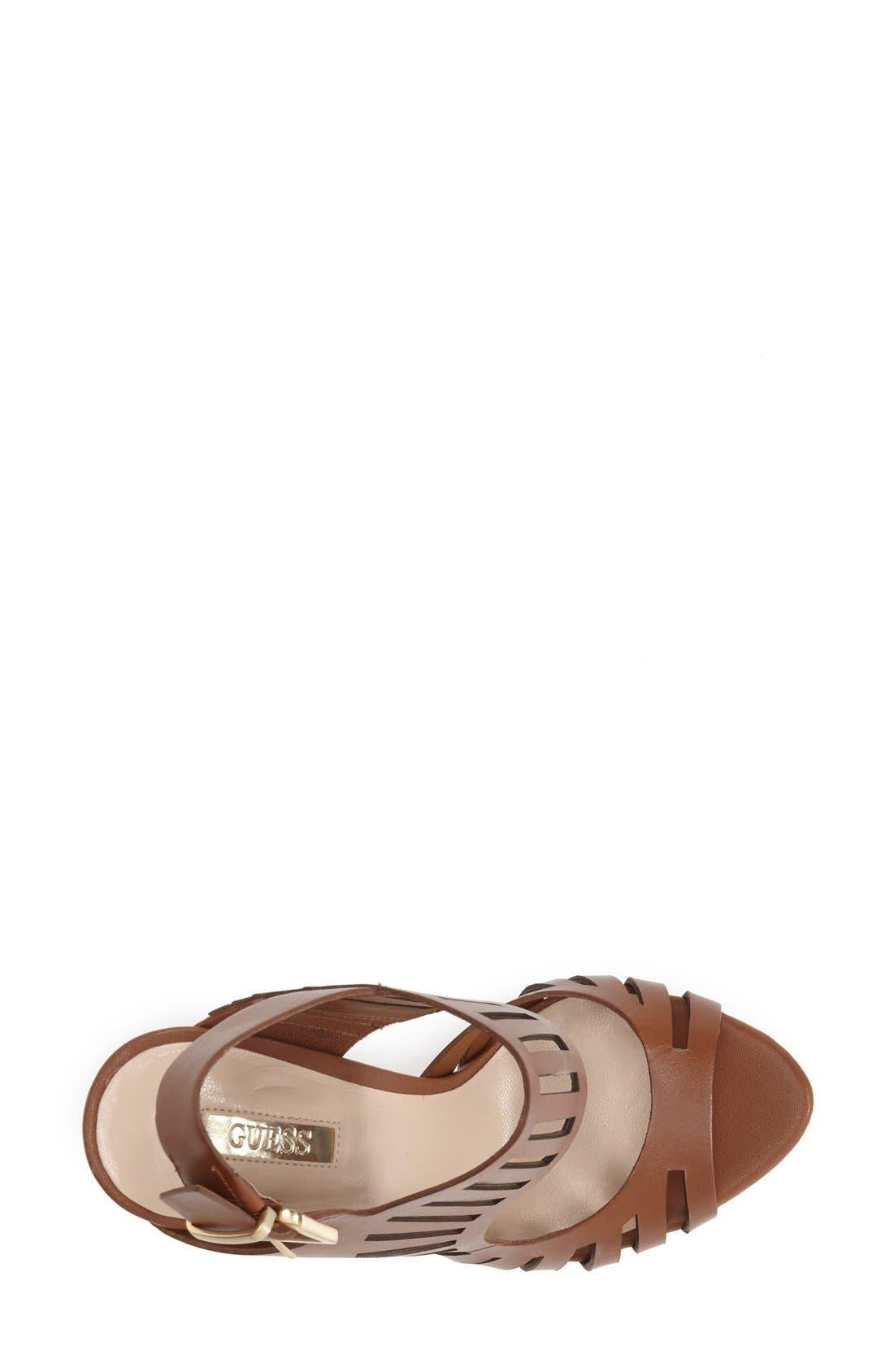 Alternate Image 3  - GUESS 'Kabirra' Cutout Leather Platform Sandal (Women)