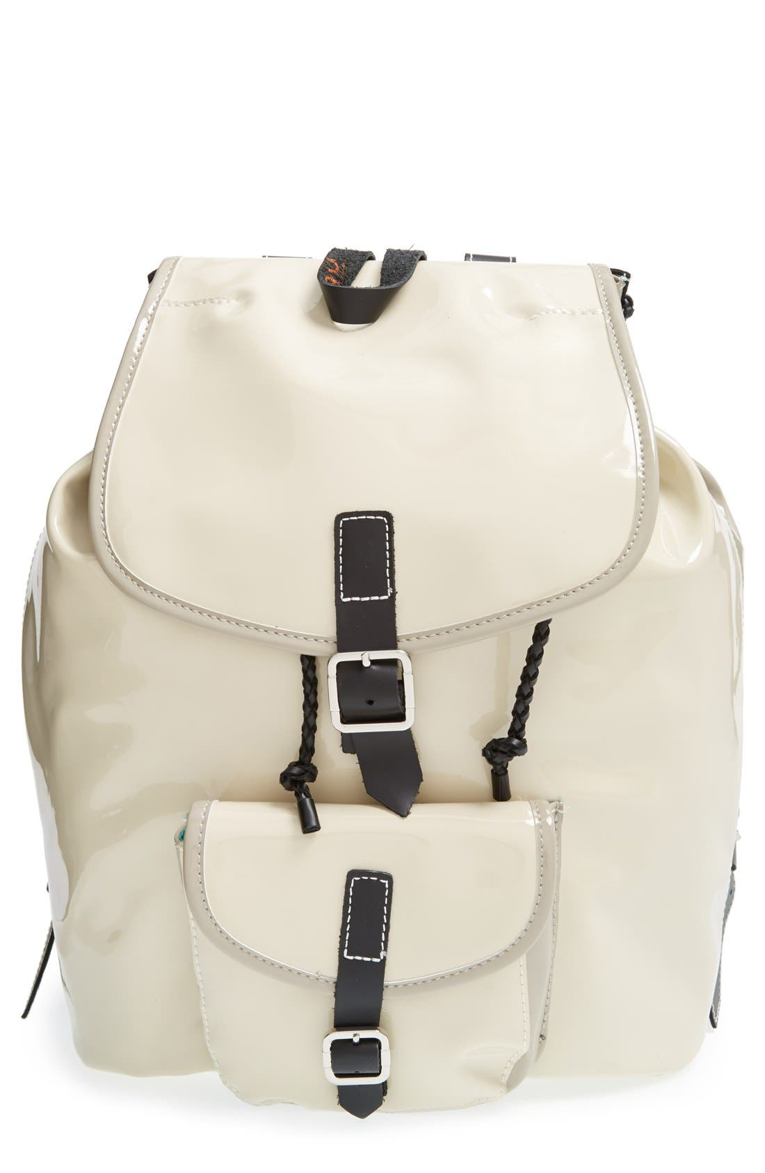 Alternate Image 1 Selected - Harper Ave 'Mueck' Faux Patent Leather Backpack