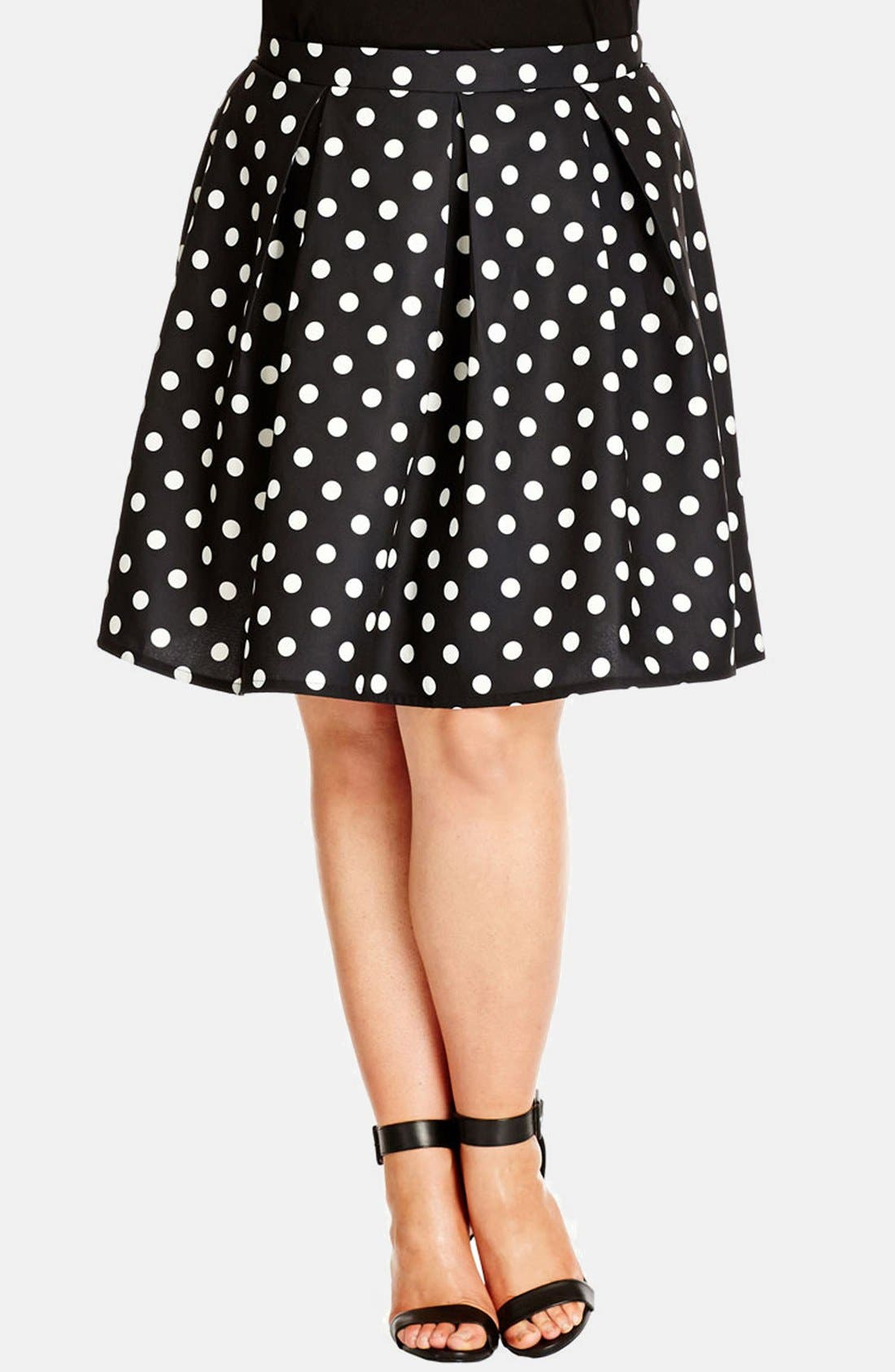 Alternate Image 1 Selected - City Chic 'Candy' Full Skirt (Plus Size)
