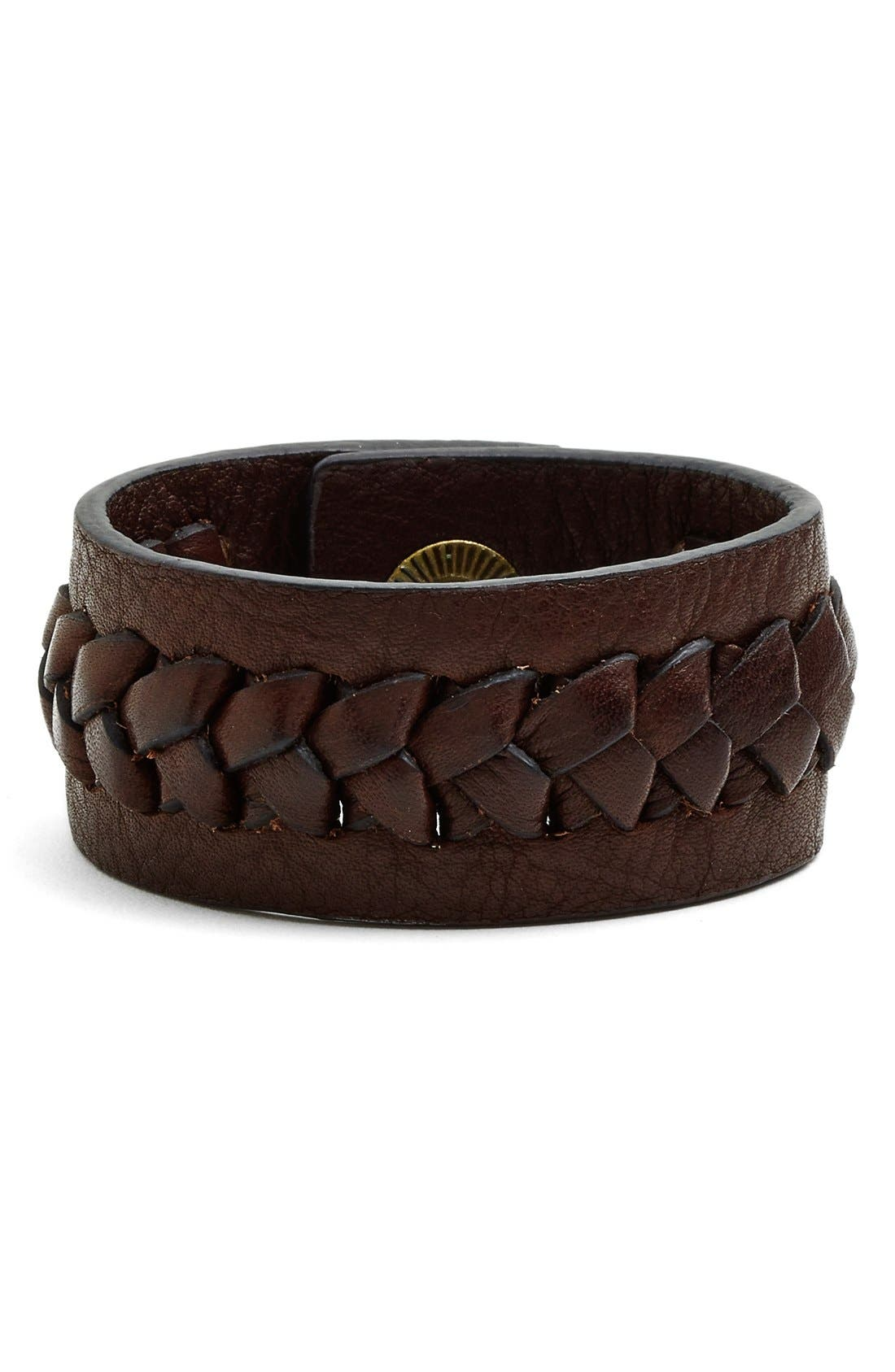Alternate Image 1 Selected - Frye 'Jenny' Braided Leather Bracelet