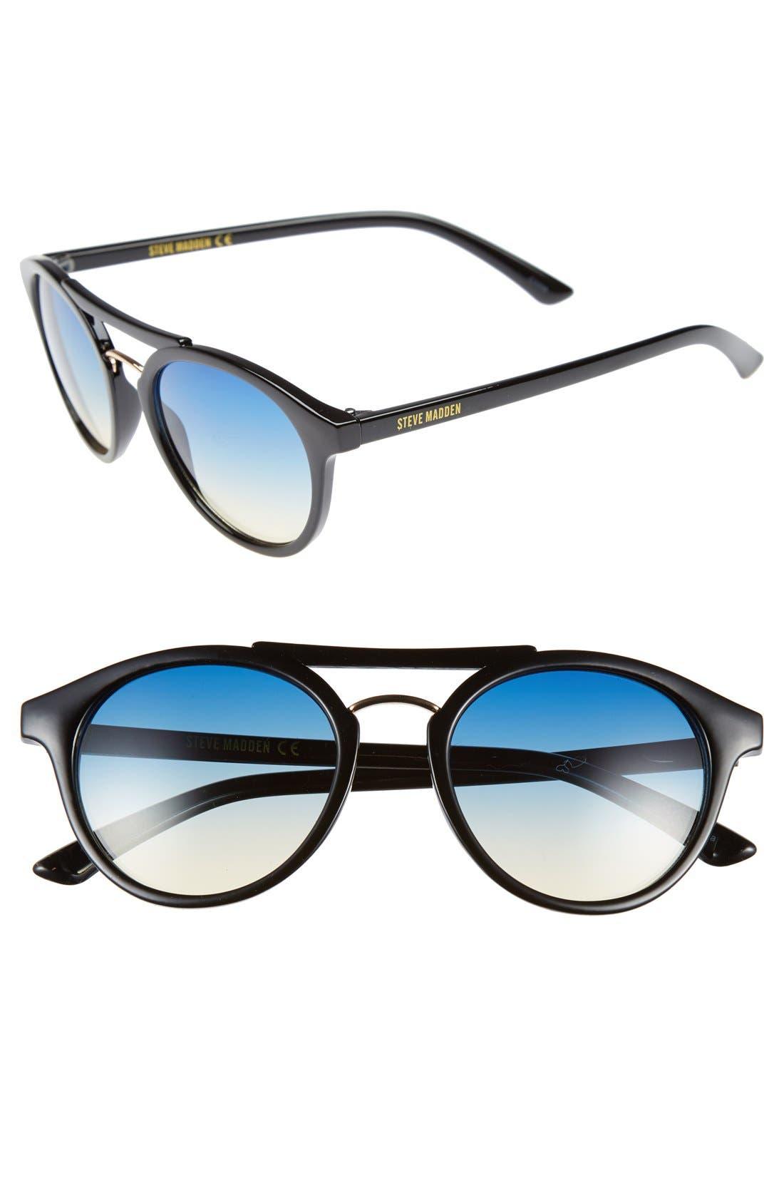 Alternate Image 1 Selected - Steve Madden 50mm Round Retro Sunglasses