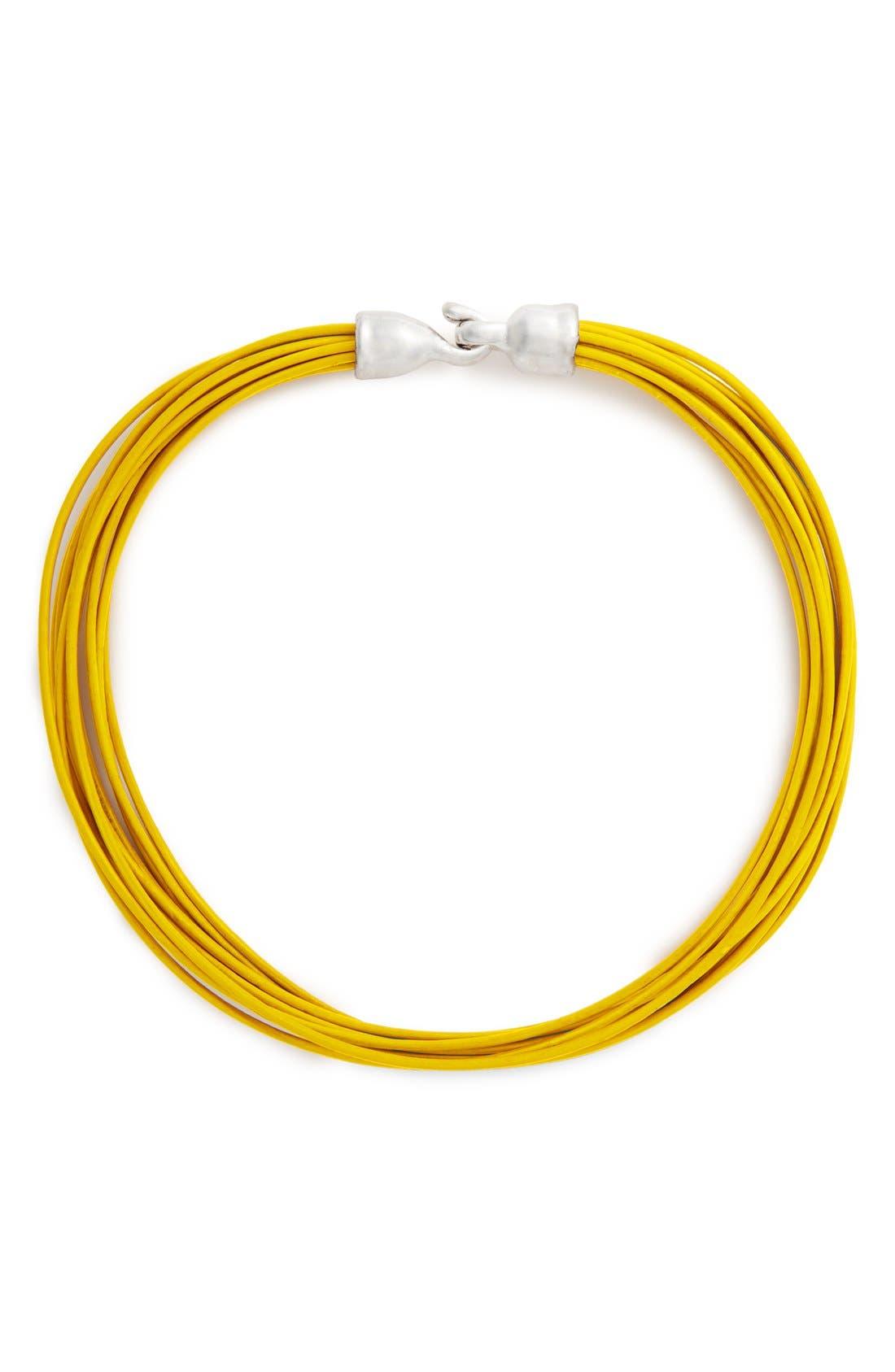 Main Image - Simon Sebbag Multistrand Leather Necklace