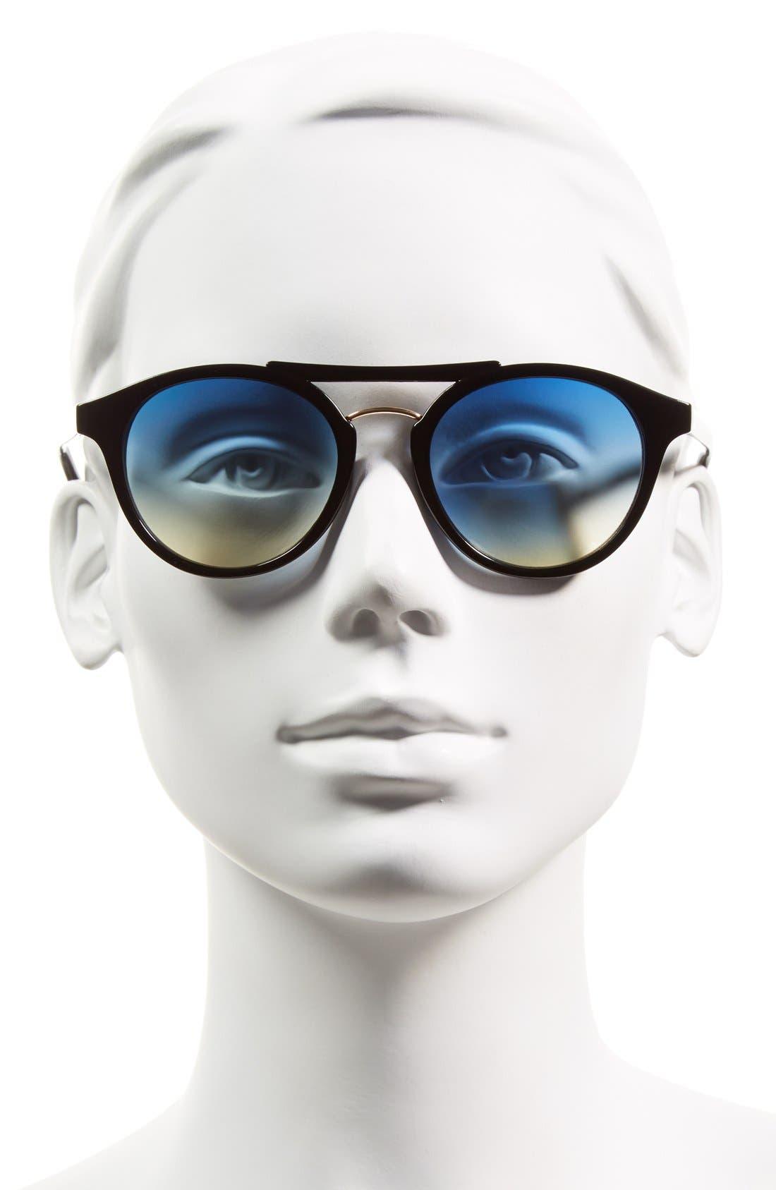 Alternate Image 2  - Steve Madden 50mm Round Retro Sunglasses