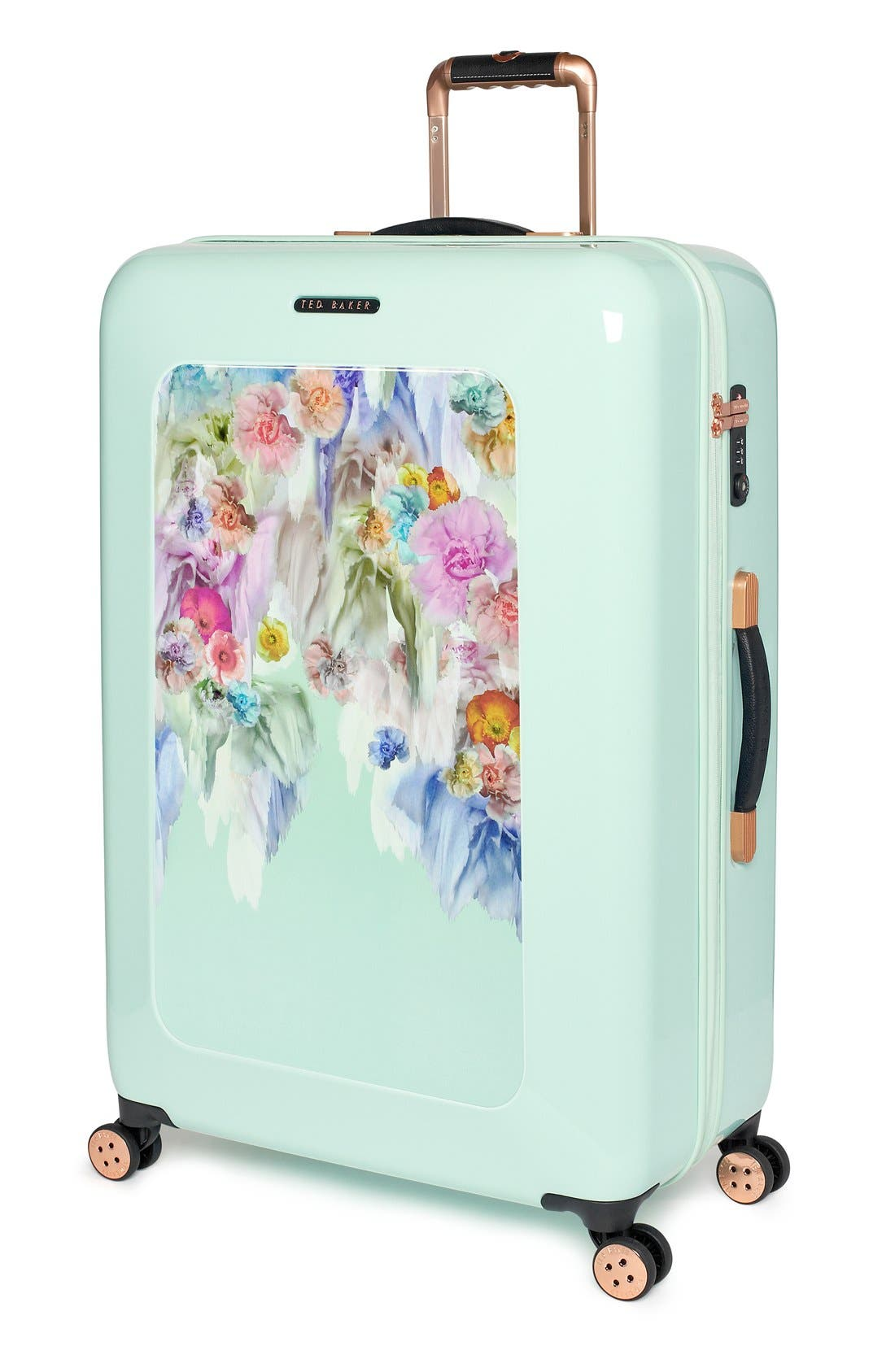 Alternate Image 4  - Ted Baker London 'Large Sugar Sweet Florals' Hard Shell Suitcase (32 Inch)