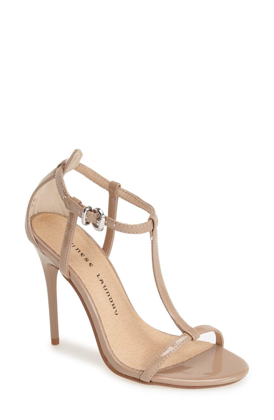 Alternate Image 1 Selected - Chinese Laundry 'Leo' Patent T-Strap Sandal (Women)