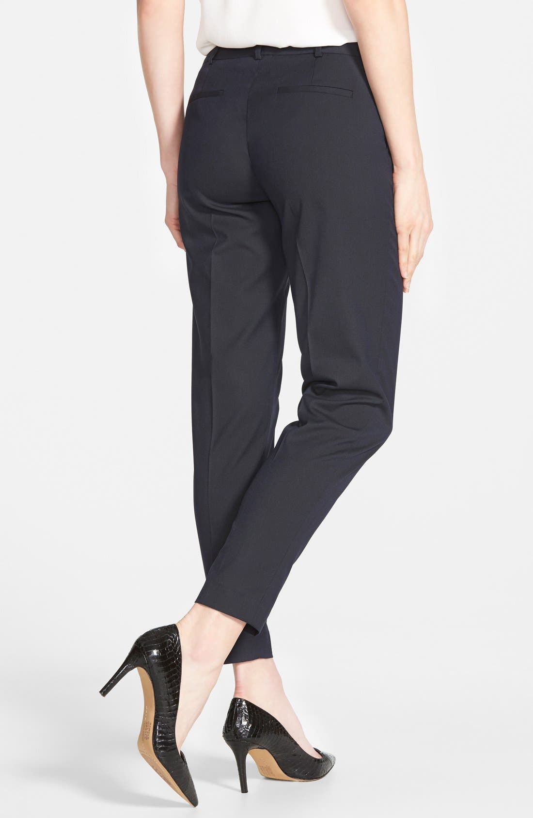 Alternate Image 2  - Halogen® 'Taylor' Lapis Pattern Suit Pants (Regular & Petite)