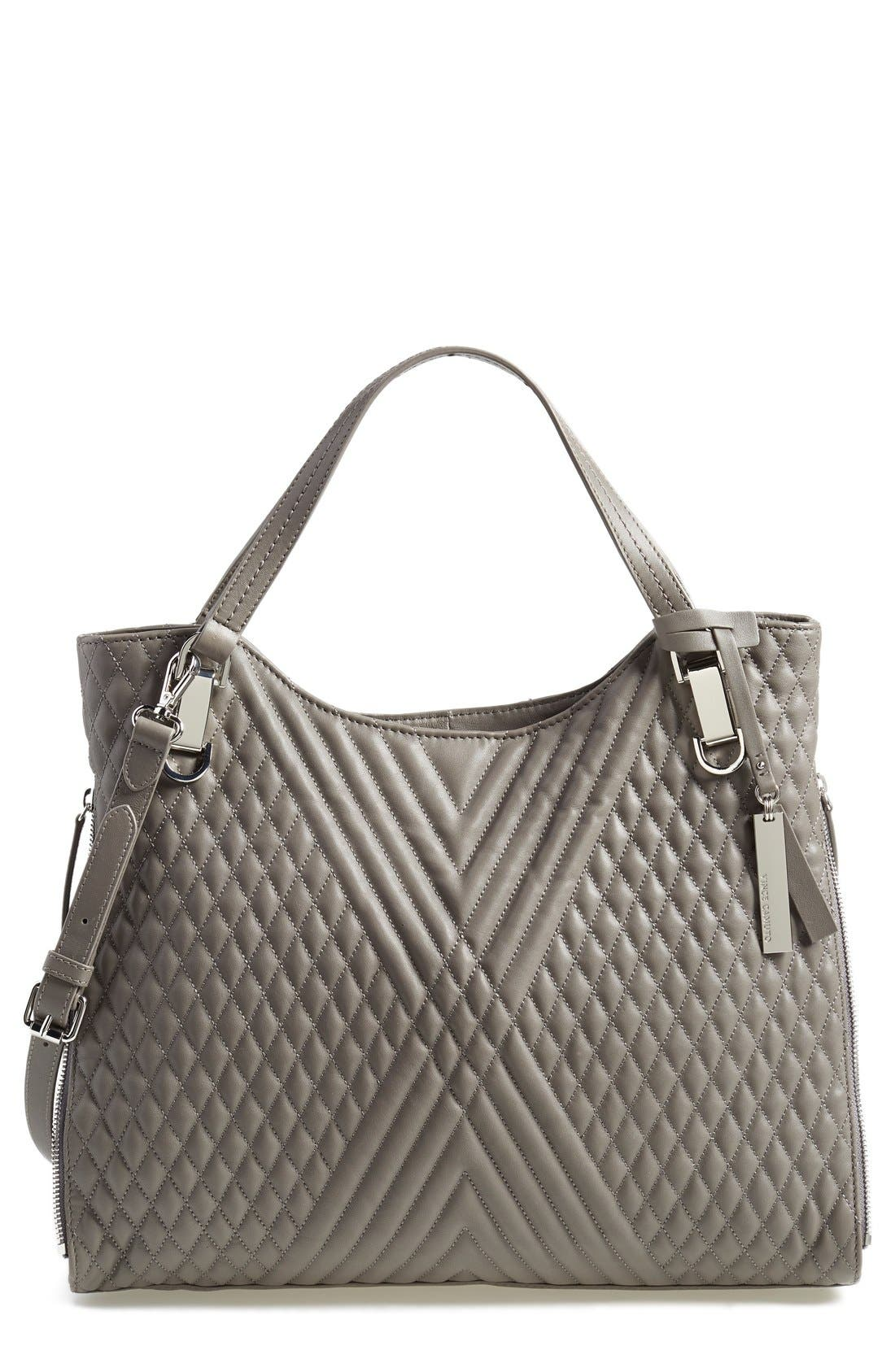Alternate Image 1 Selected - Vince Camuto 'Riley' Quilted Leather Tote