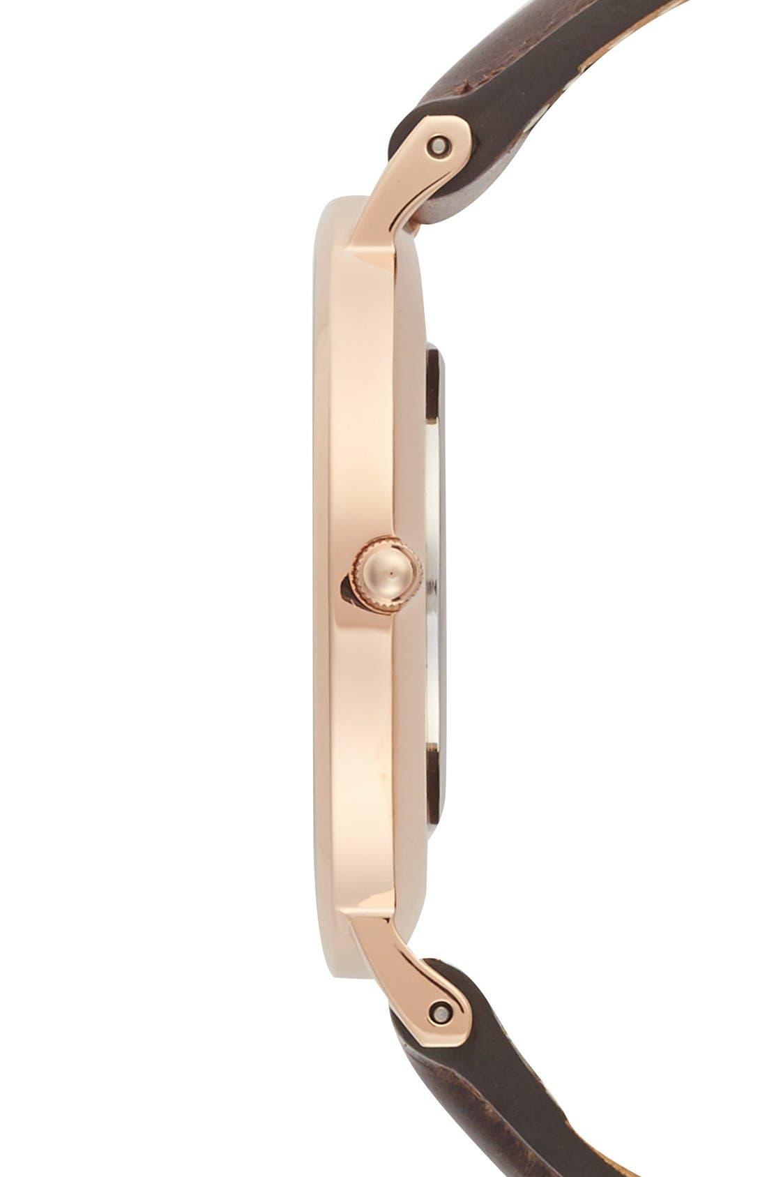 Alternate Image 4  - Daniel Wellington 'Classic Bristol' Round Leather Strap Watch, 36mm