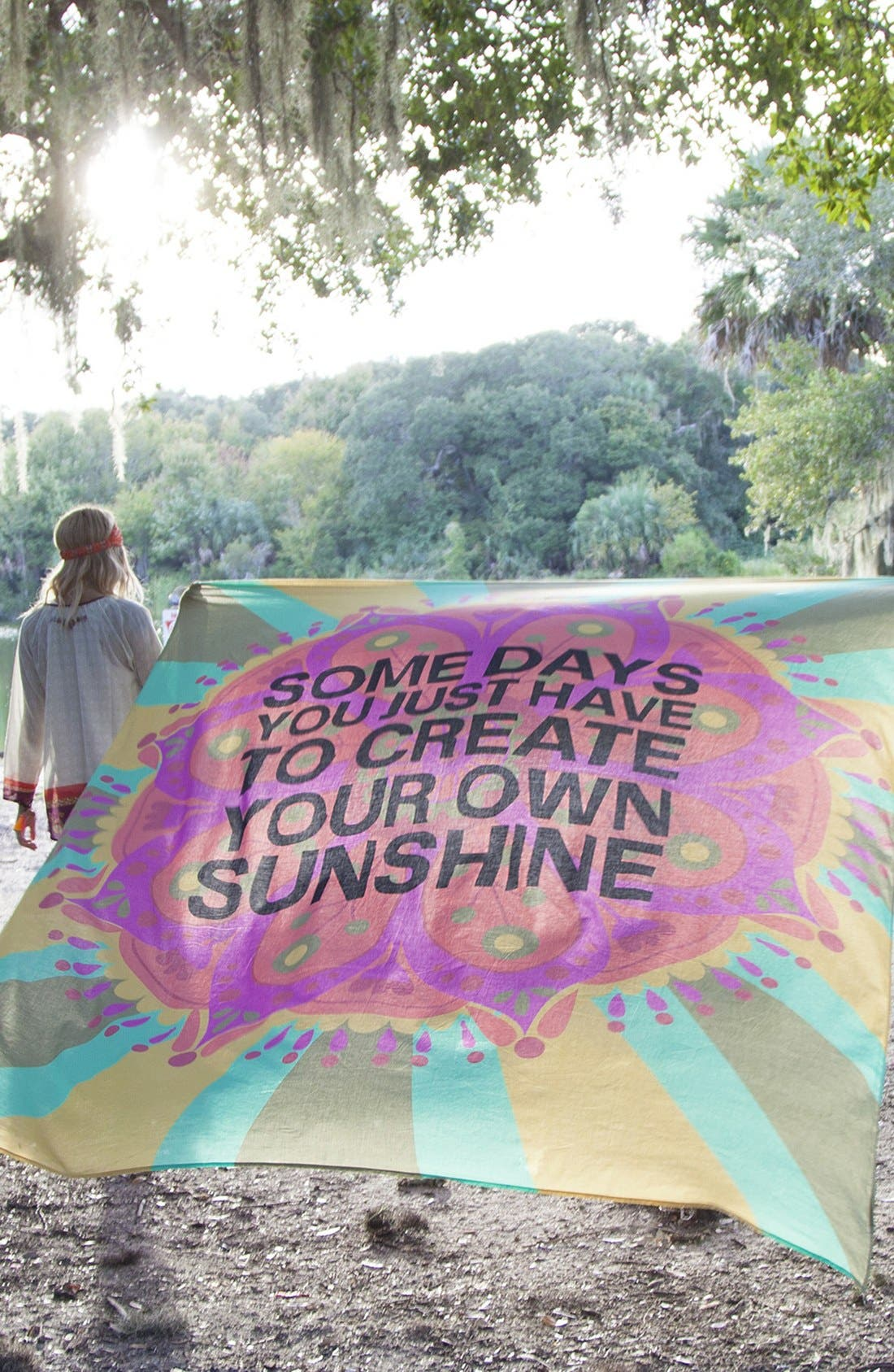 Alternate Image 3  - Natural Life 'Create Your Own Sunshine' Lightweight Blanket