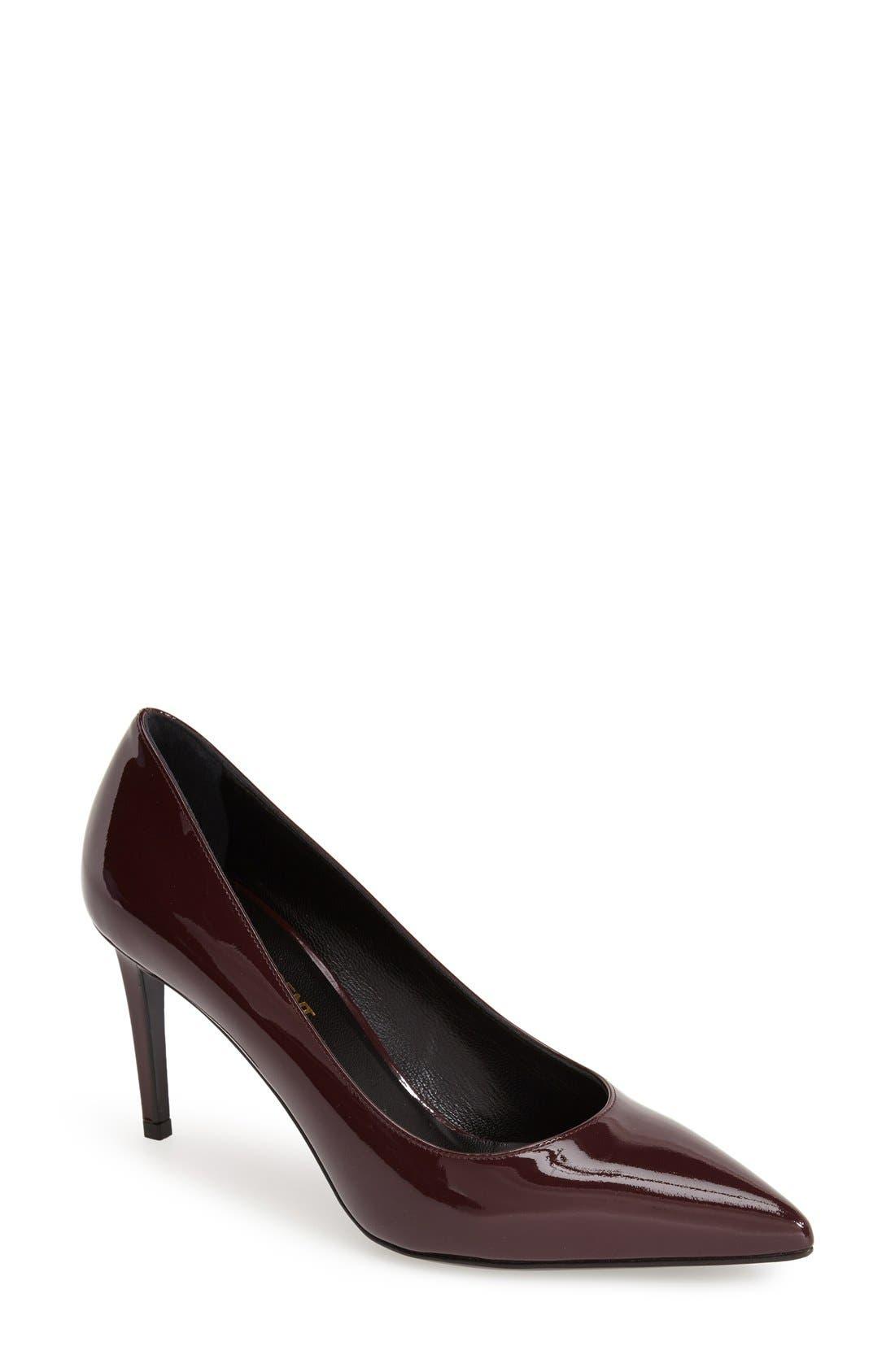 Alternate Image 1 Selected - Saint Laurent 'Paris' Pointy Toe Pump (Women)