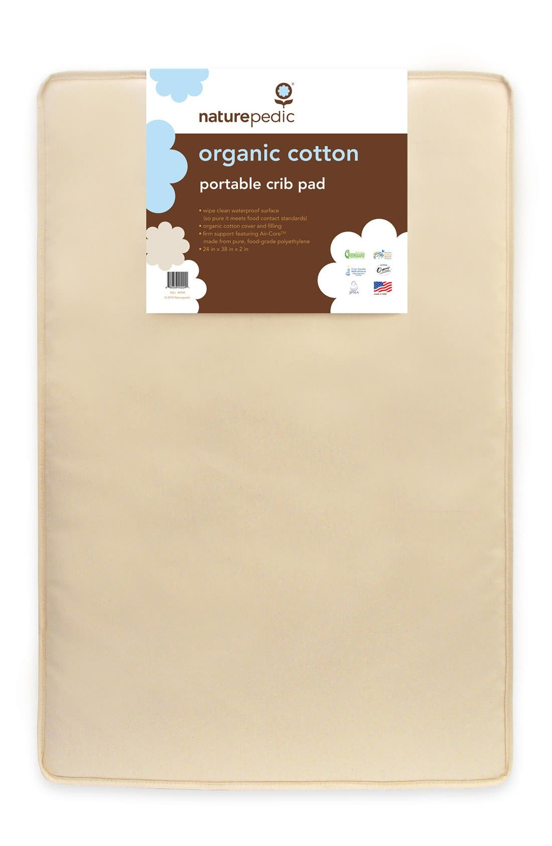 NATUREPEDIC Organic Cotton Portable Crib Pad