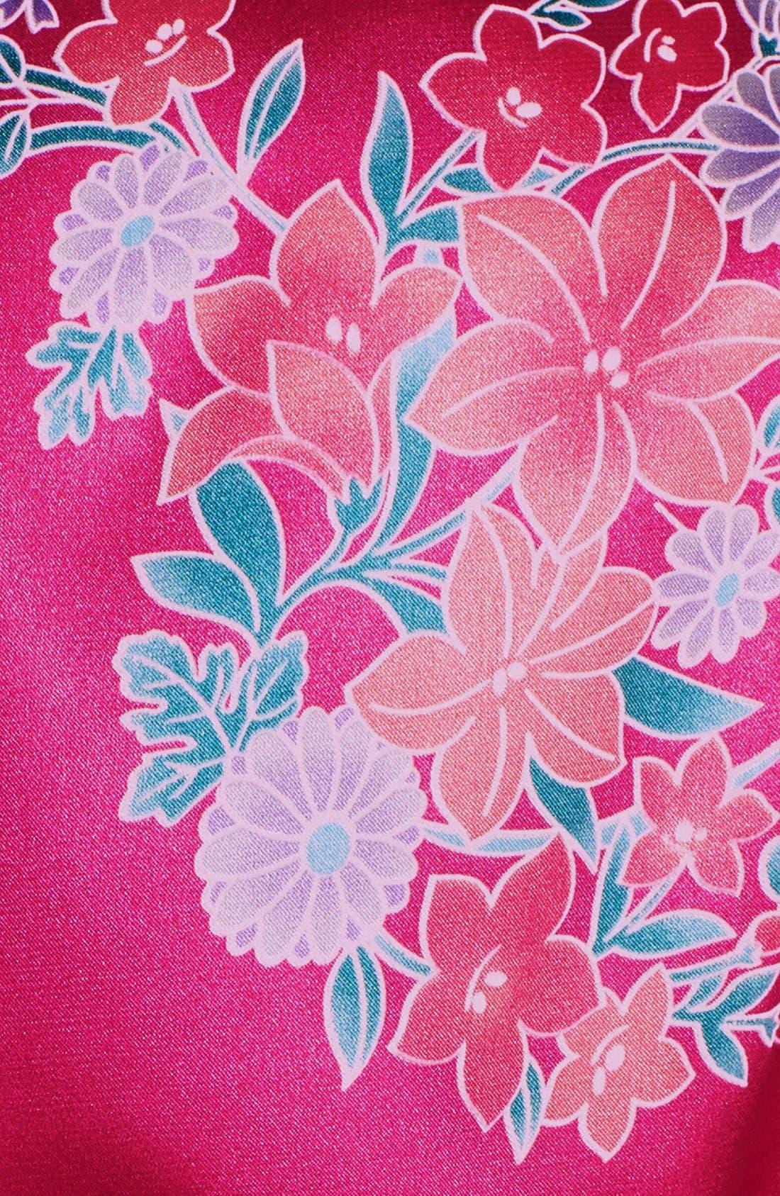 Alternate Image 4  - Cathy's Concepts Monogram Floral Satin Robe