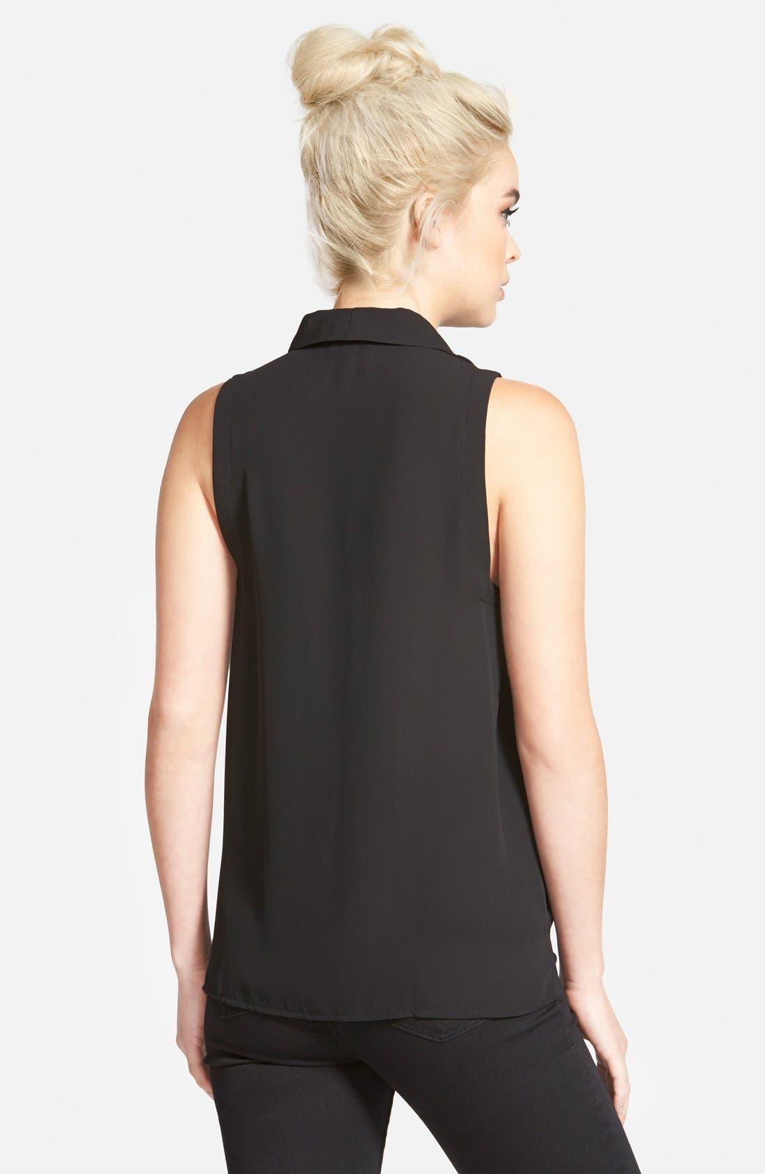 Alternate Image 2  - Topshop Sleeveless Drape Blouse