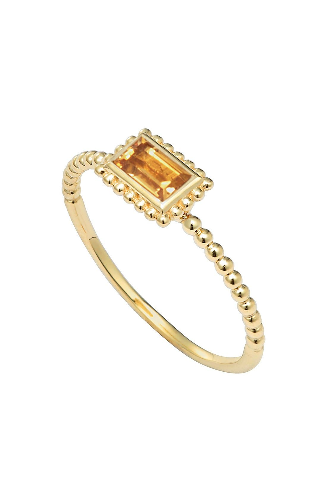 Alternate Image 1 Selected - LAGOS 'Covet' Baguette Stone Caviar Stack Ring