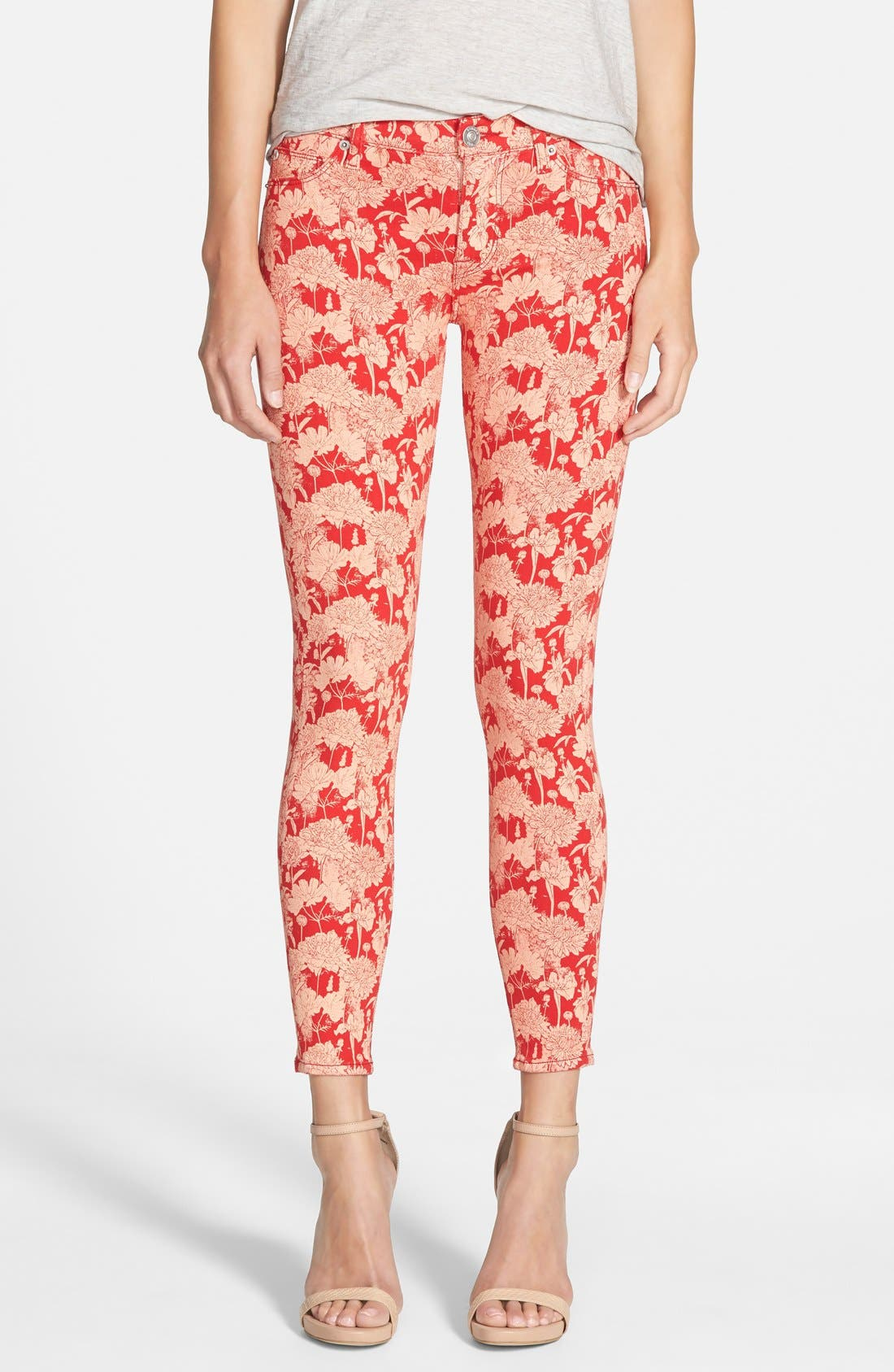 Main Image - Hudson Jeans 'Nico' Print Ankle Skinny Jeans