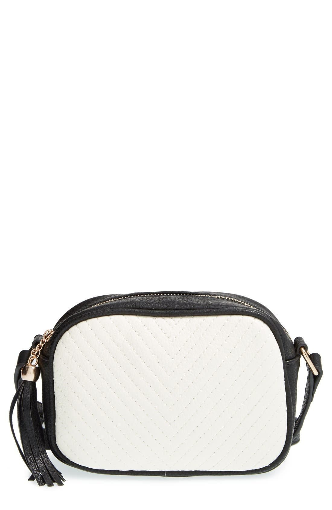 Main Image - Street Level Tassel Crossbody Bag