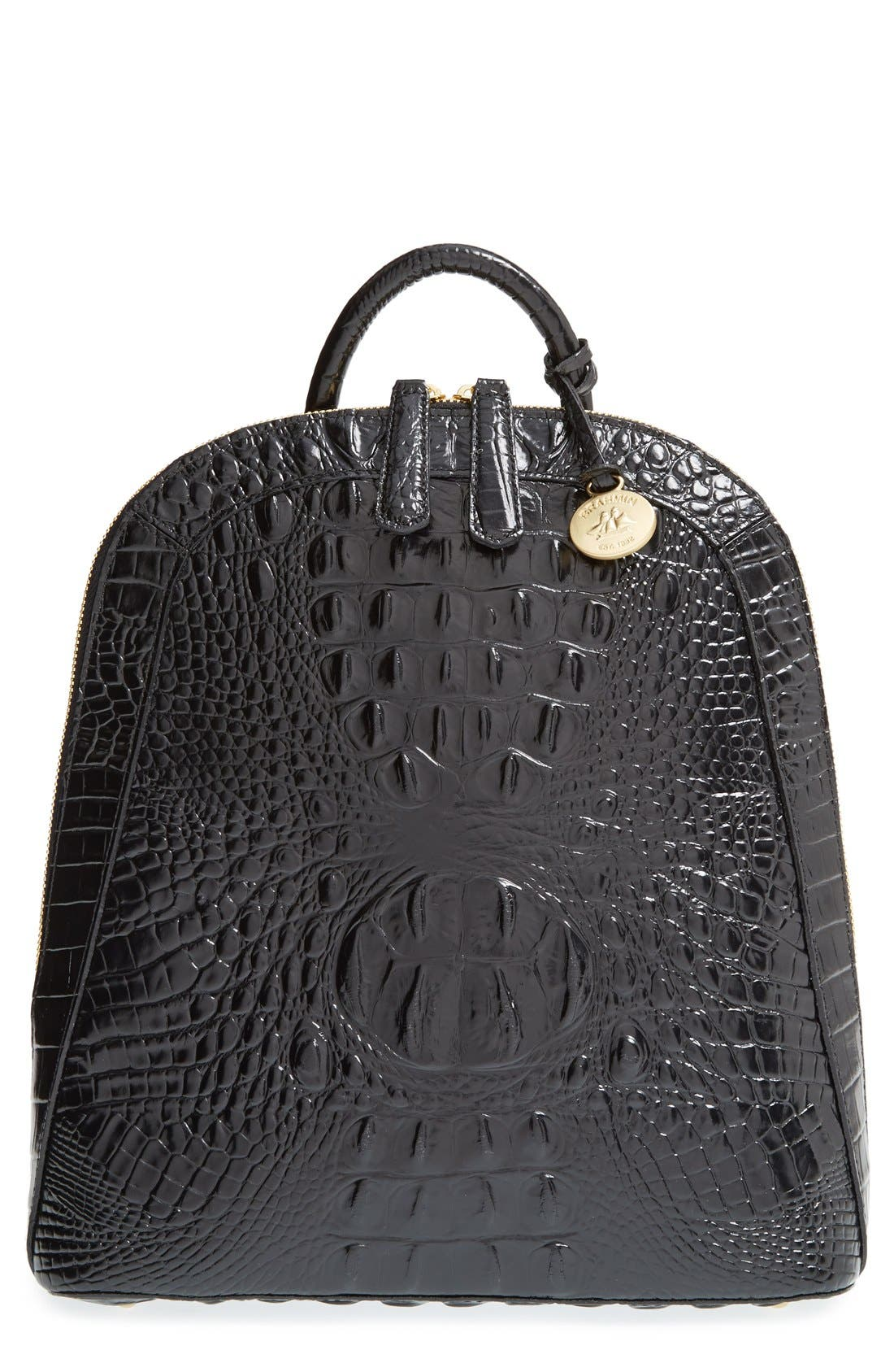 Main Image - Brahmin 'Rosemary' Croc Embossed Leather Backpack