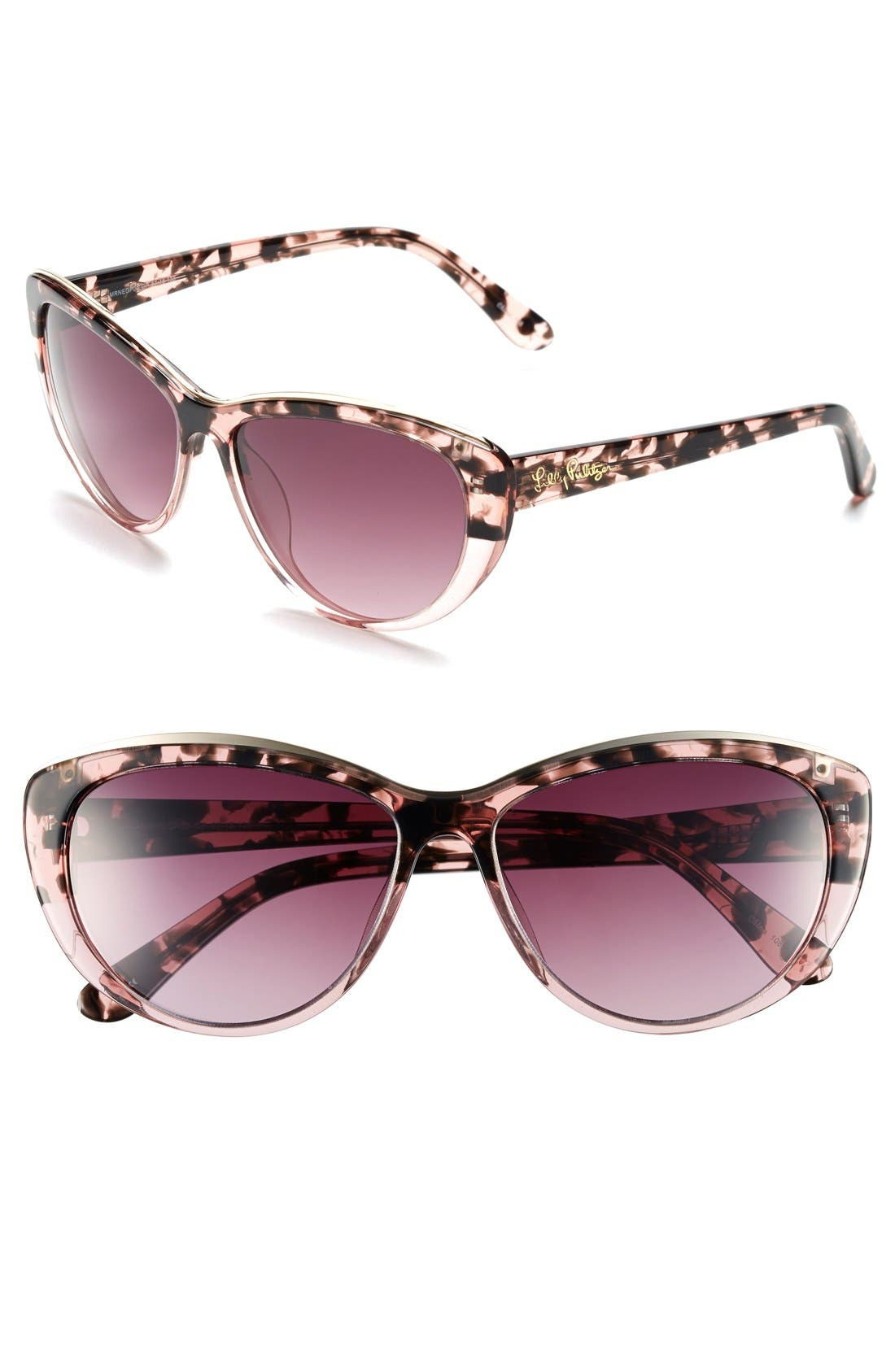 Alternate Image 1 Selected - Lilly Pulitzer® 'Marianne' 59mm Cat Eye Sunglasses