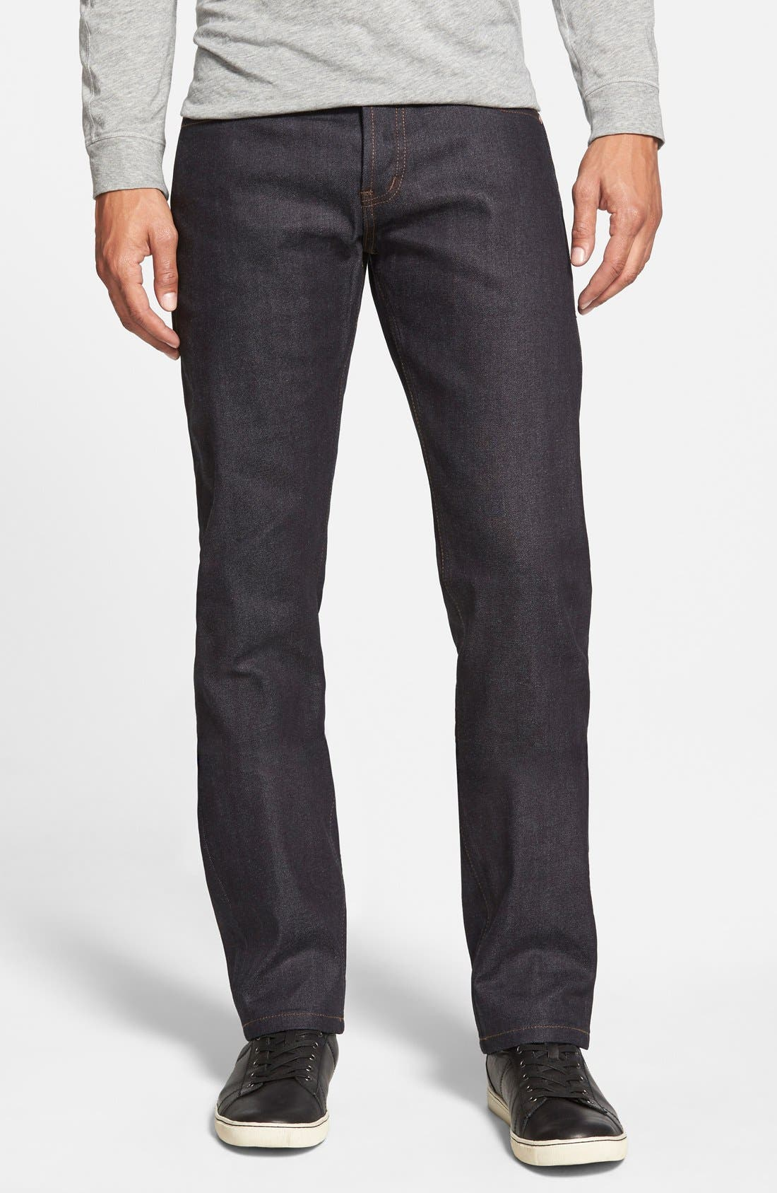 The Unbranded Brand 'UB222' Slim Tapered Fit Raw Selvedge Jeans (Indigo Stretch Selvedge)