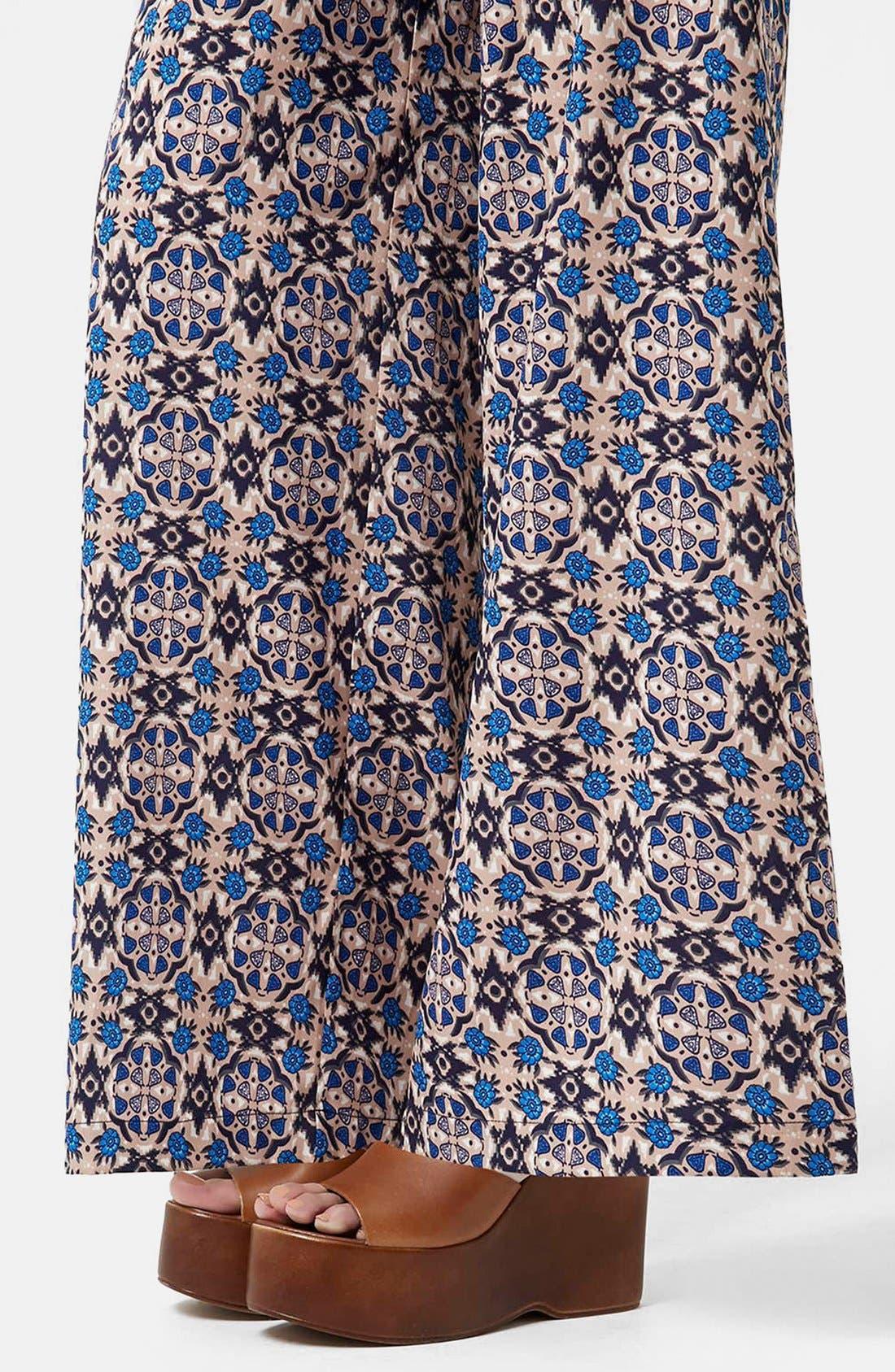 Alternate Image 5  - Topshop 'Troubadour' Tile Print Wide Leg Trousers