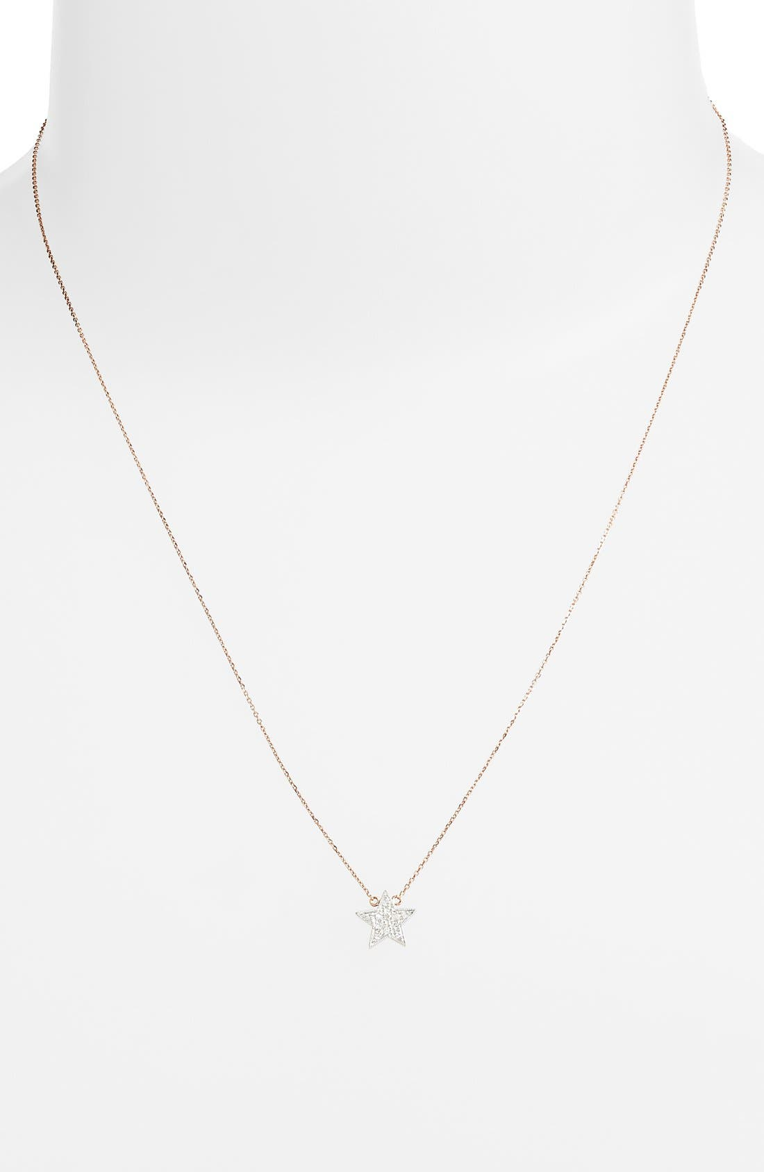 Alternate Image 2  - Dana Rebecca Designs 'Julianne Himiko' Diamond Star Pendant Necklace