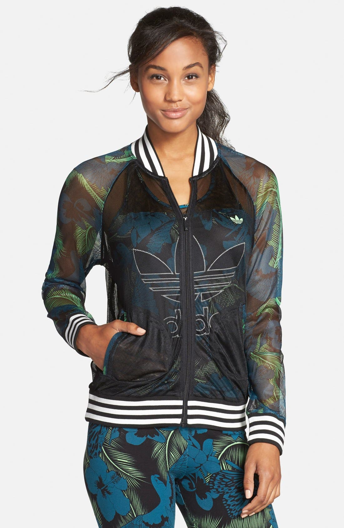 Alternate Image 1 Selected - adidas Originals 'Hawaii' Mesh Track Jacket