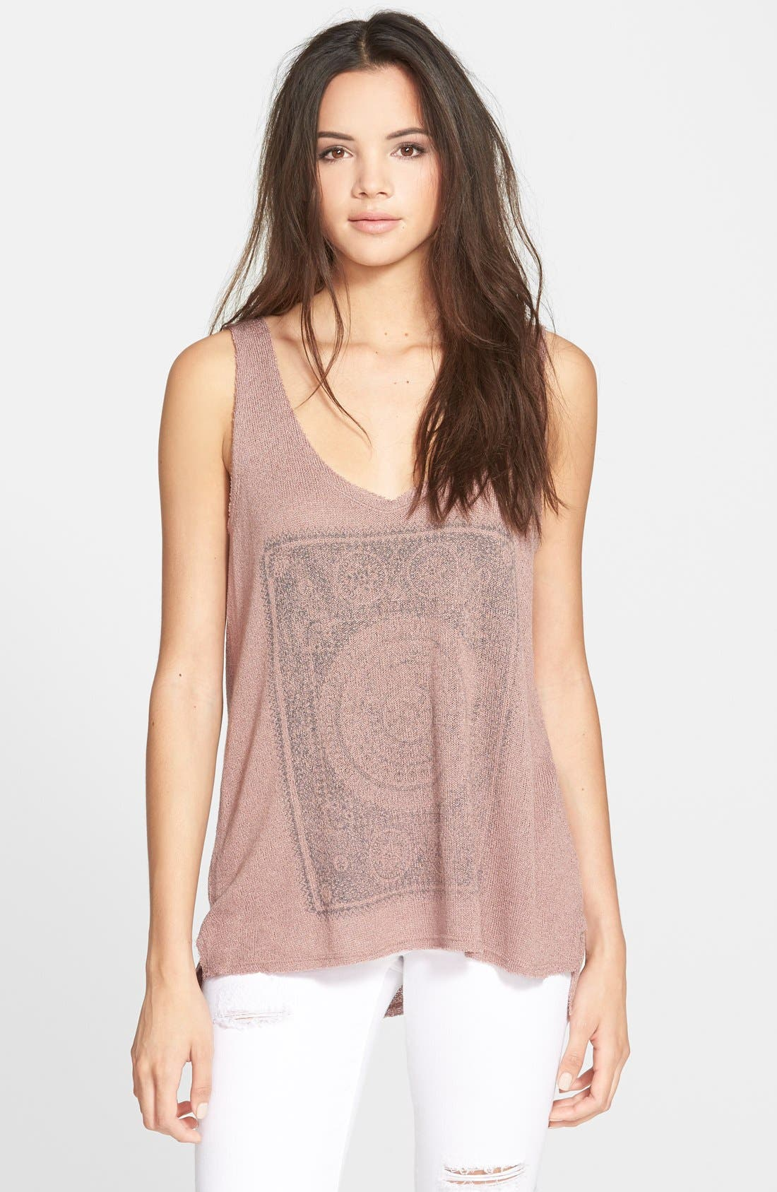 Alternate Image 1 Selected - Project Social T 'Moon Child' Knit High/Low Tank