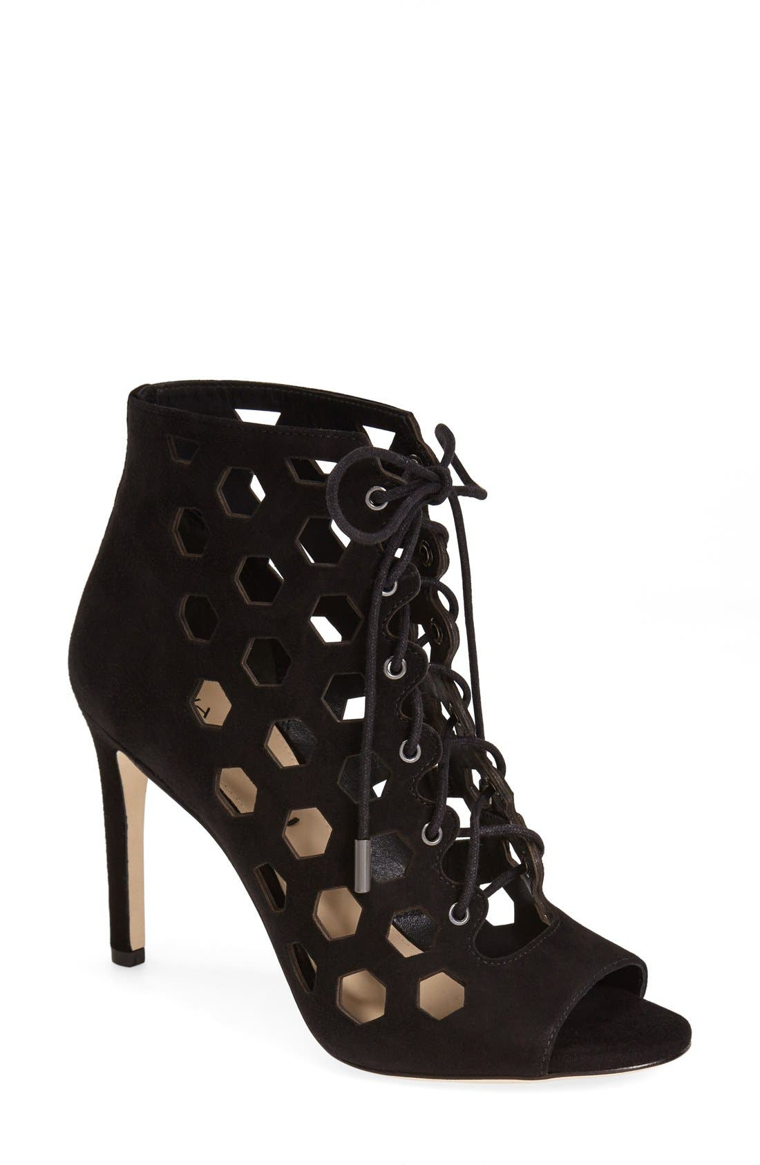 Alternate Image 1 Selected - Via Spiga 'Elouise' Lace-Up Bootie (Women)