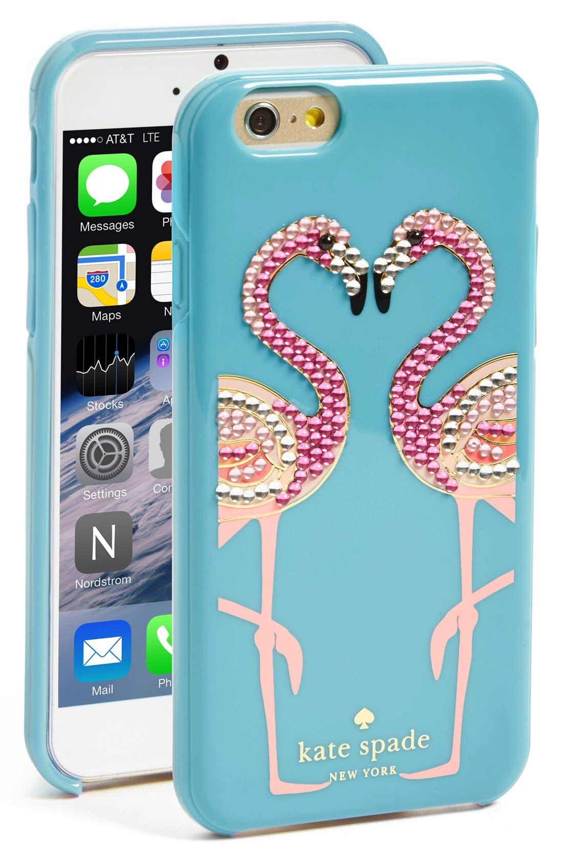 Alternate Image 1 Selected - kate spade new york 'jeweled flamingo' iPhone 6 case