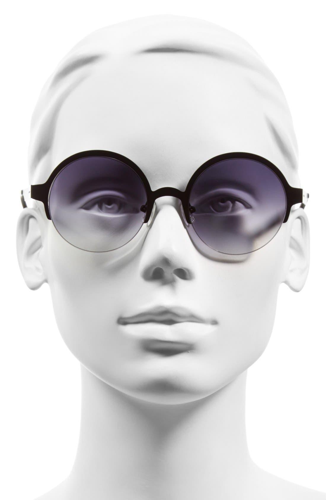 Alternate Image 2  - Italia Independent 51mm Semi Rimless Sunglasses
