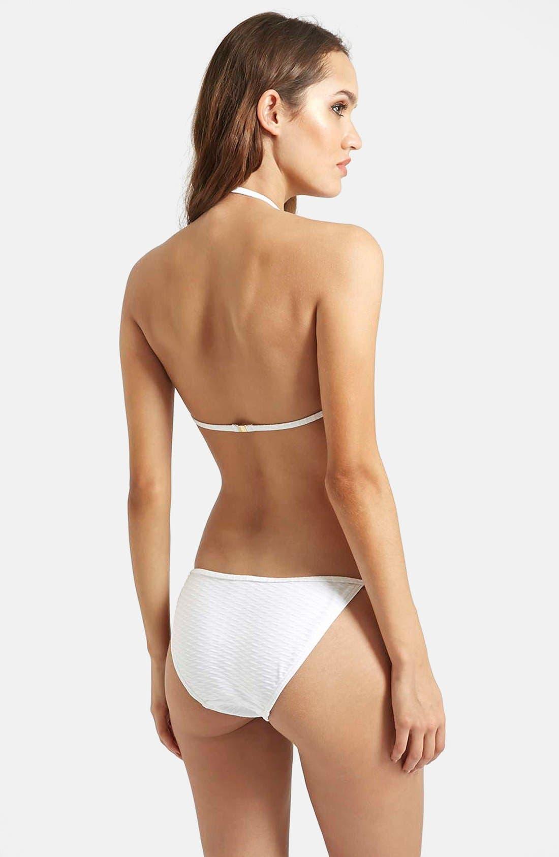Alternate Image 4  - Topshop Textured Halter Bikini