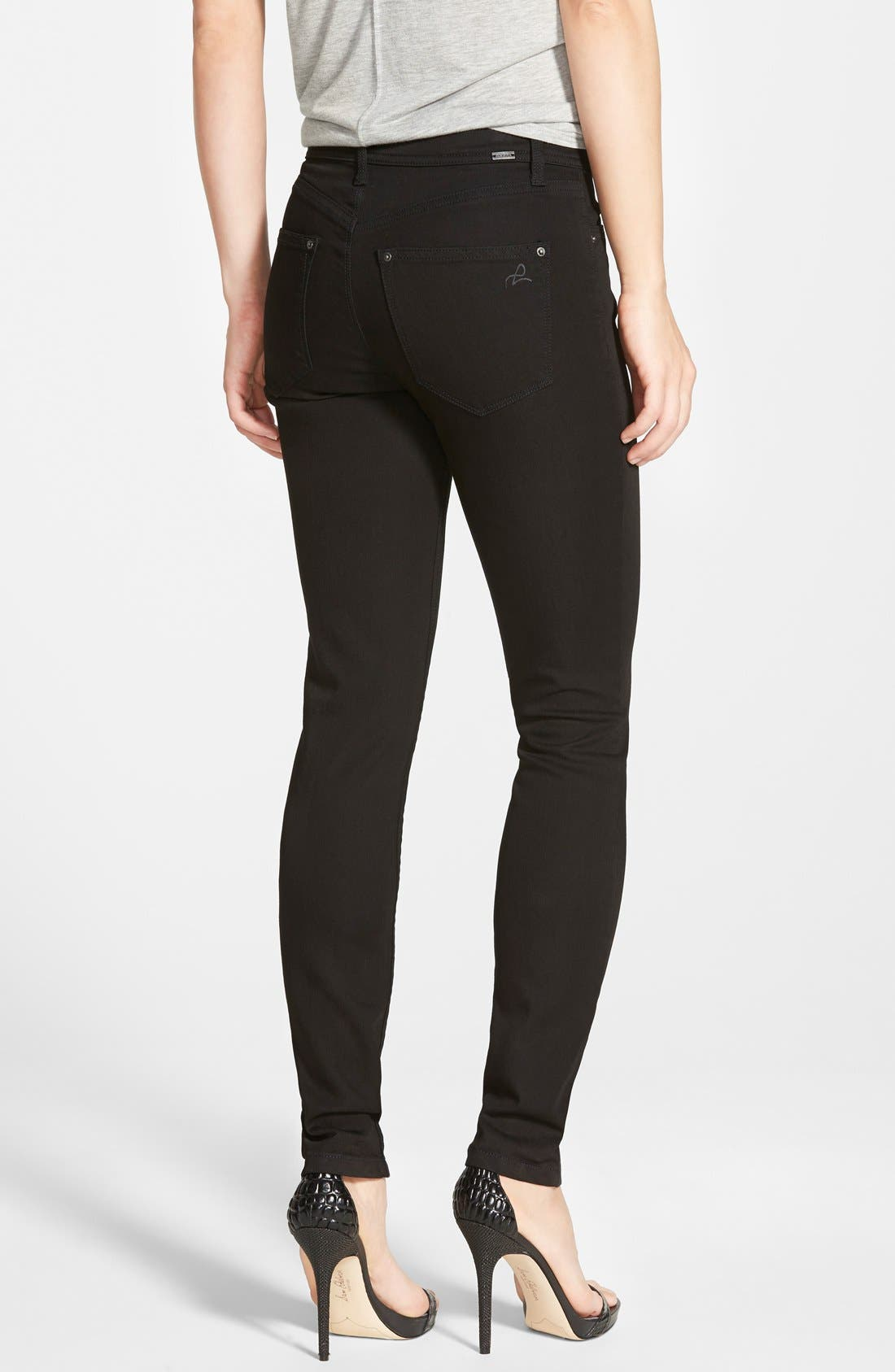 Alternate Image 2  - DL 1961 'Nina' High Rise Skinny Jeans (Riker)