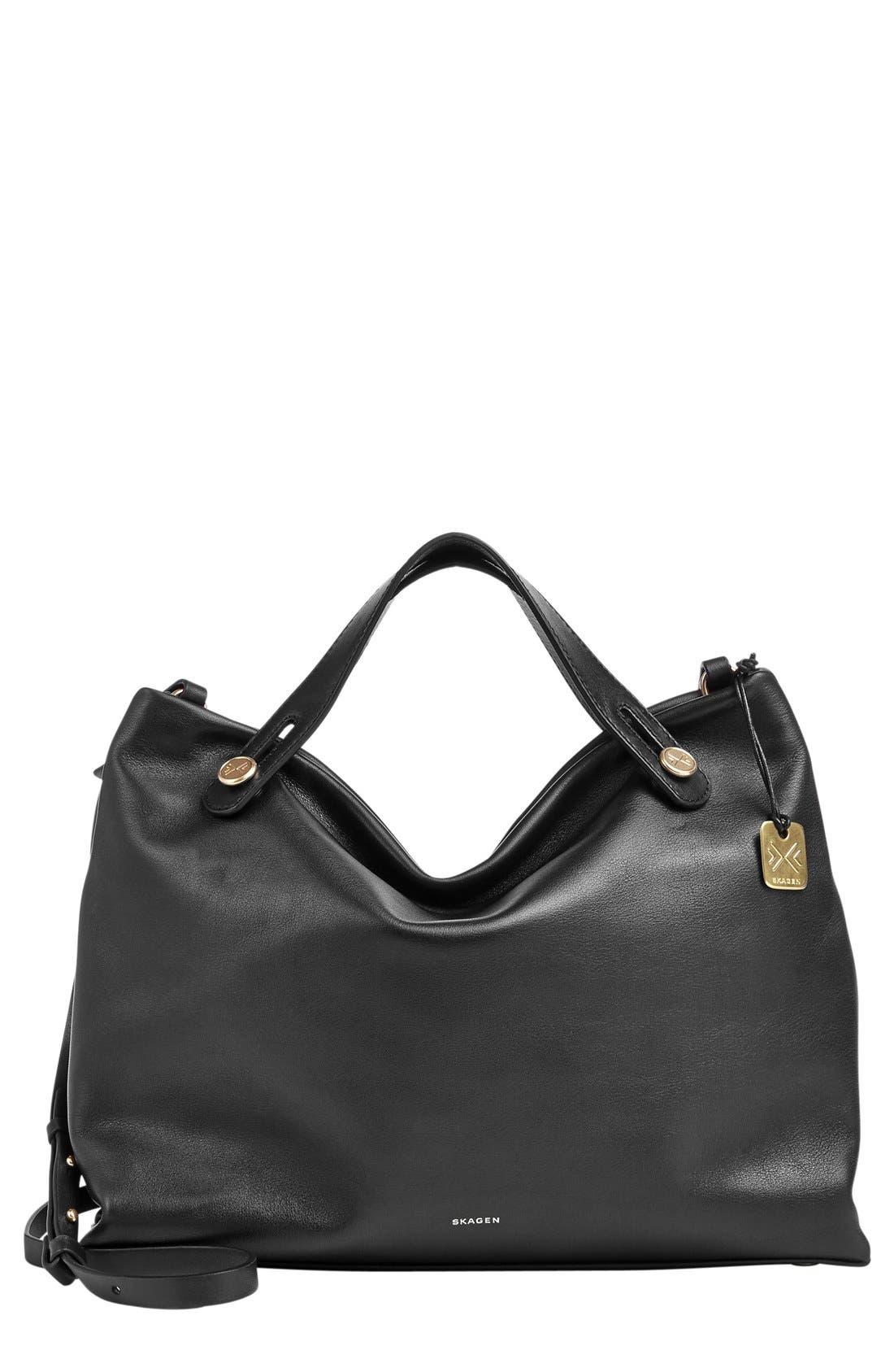 Alternate Image 1 Selected - Skagen 'Mikkeline' Leather Satchel