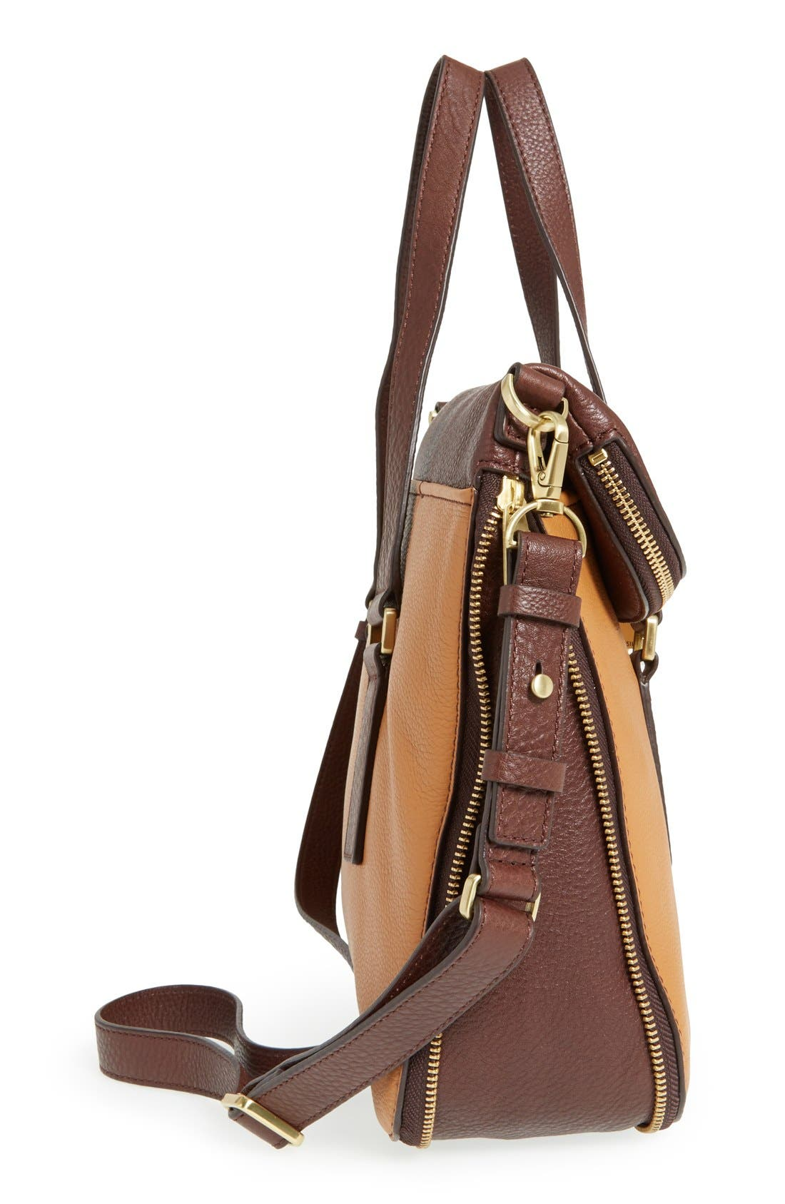 Alternate Image 5  - Fossil 'Preston' Foldover Leather Tote (Online Only)
