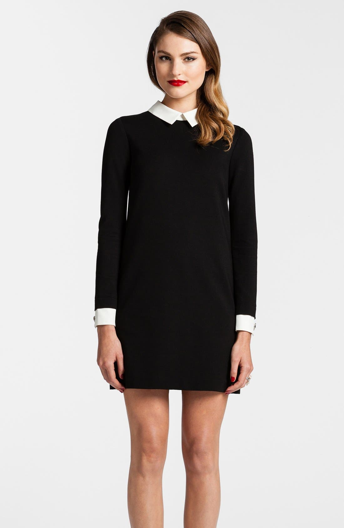 Alternate Image 1 Selected - Cynthia Steffe Collared Ponte Knit Shift Dress