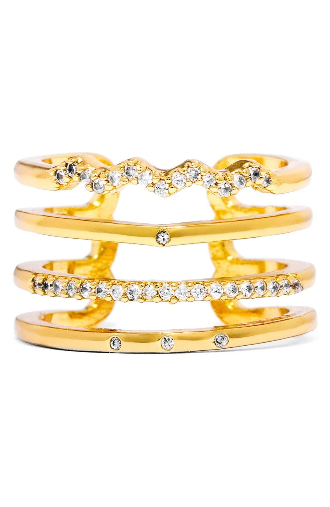 Alternate Image 2  - BaubleBar Open Pavé Ring