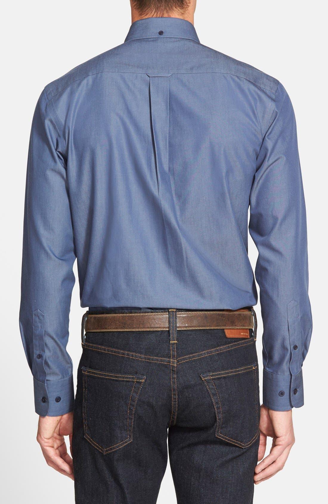 Alternate Image 2  - Nordstrom Men's Shop Smartcare™ Regular Fit Twill Denim Boat Shirt (Regular & Tall)