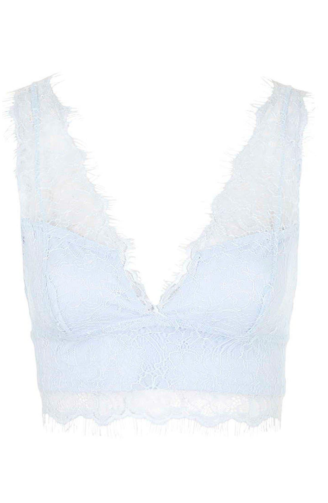 Alternate Image 3  - Topshop V-Neck Lace Bralette