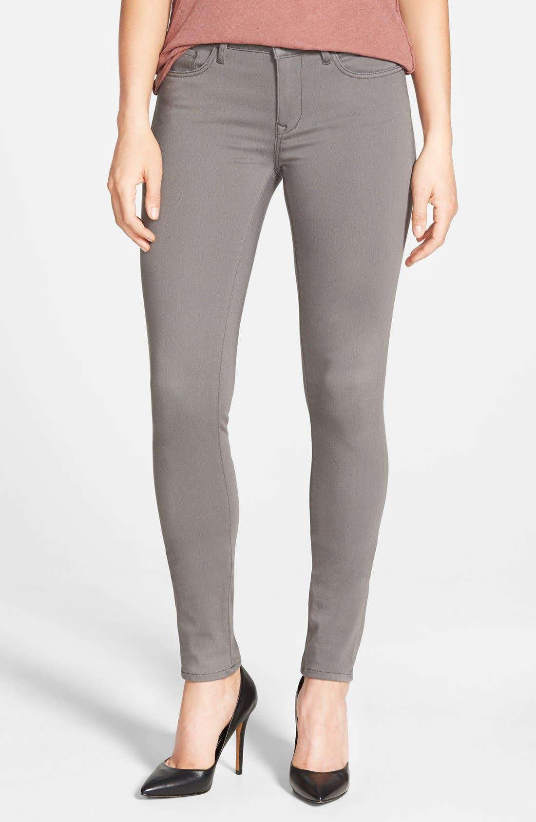 MaviJeans Gold 'Adriana' Stretch Super Skinny Jeans (Smoke Gold Sateen)