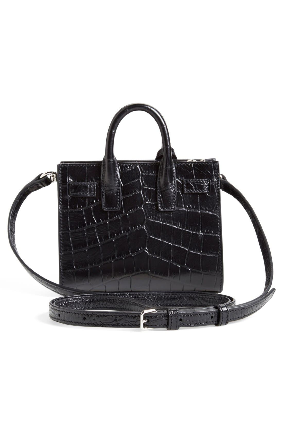 Alternate Image 3  - Saint Laurent 'Toy Sac de Jour' Croc Embossed Calfskin Leather Tote (Extra Small)