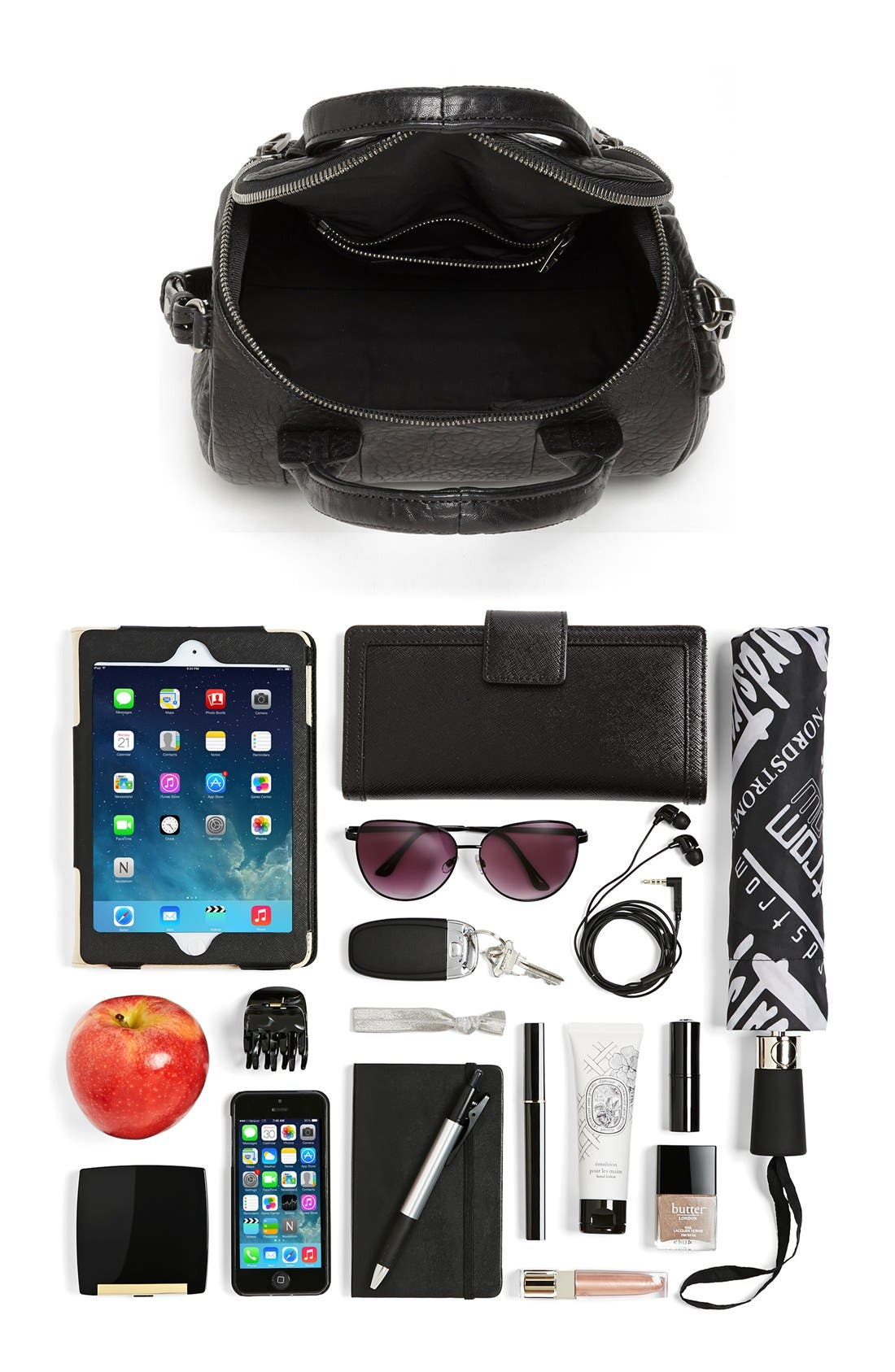 Alternate Image 7  - Alexander Wang 'Rockie - Black Nickel' Leather Crossbody Satchel