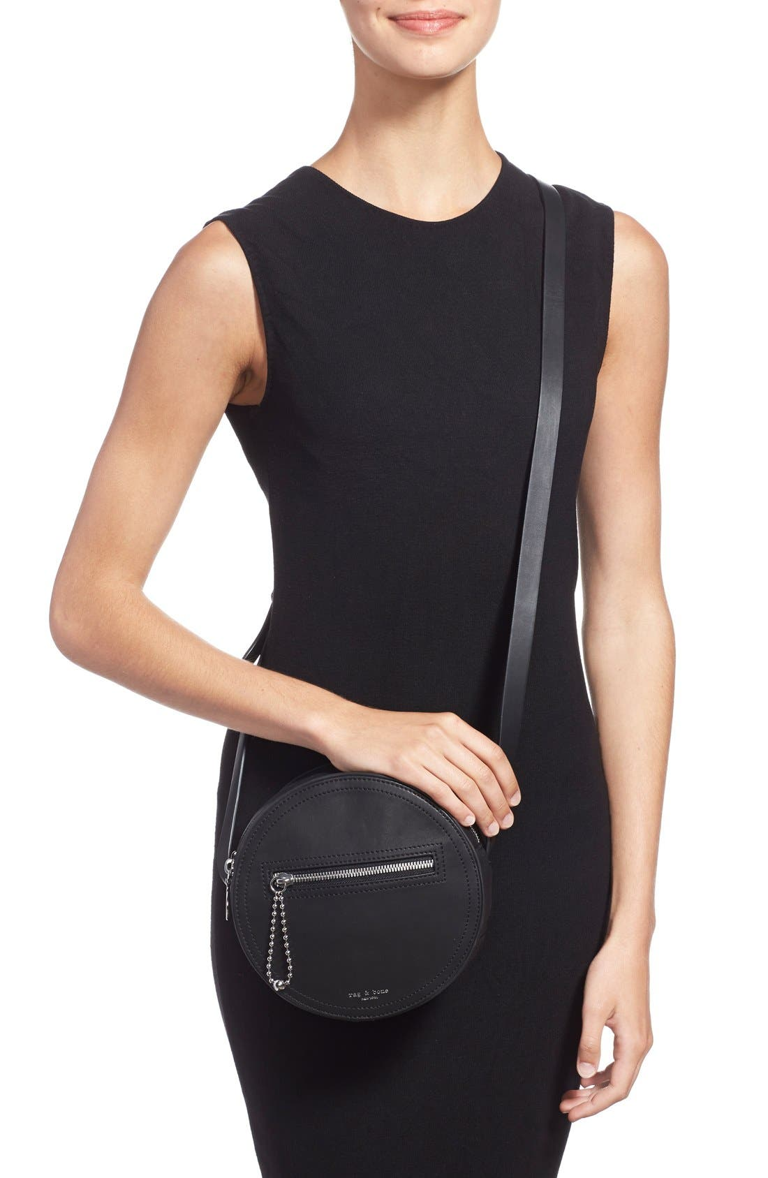 Alternate Image 2  - rag & bone 'Circle' Leather Crossbody Bag