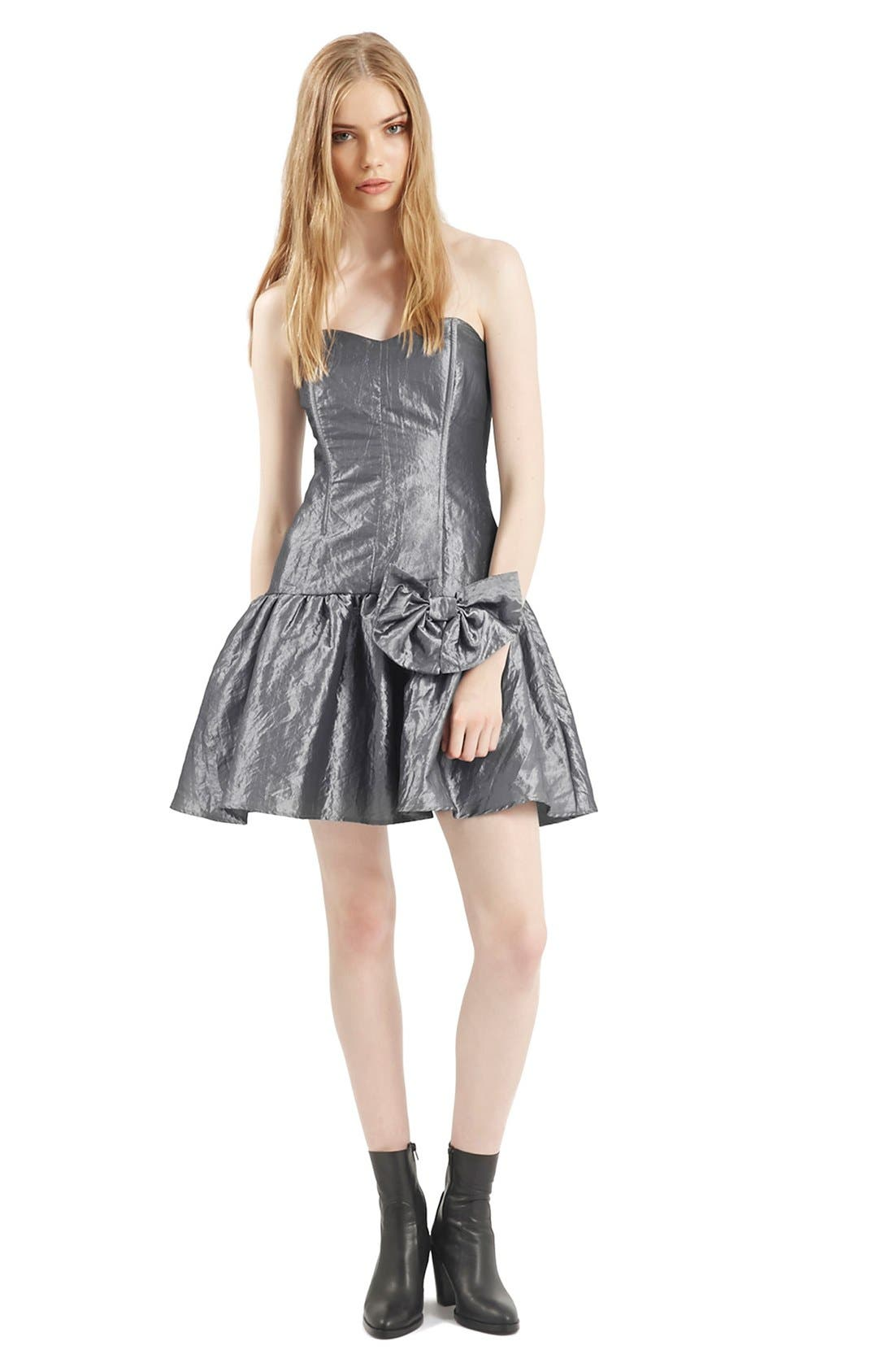 Alternate Image 1 Selected - Topshop Archive Collection Taffeta Prom Dress