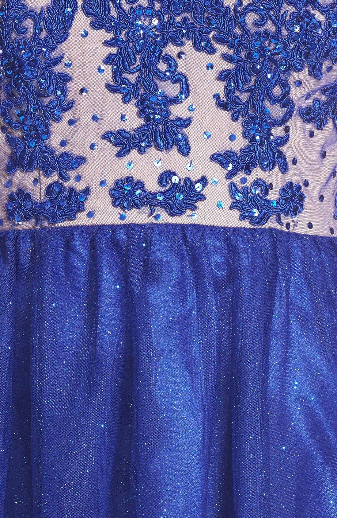 Alternate Image 3  - Jump Apparel Strapless Lace Bodice Skater Dress