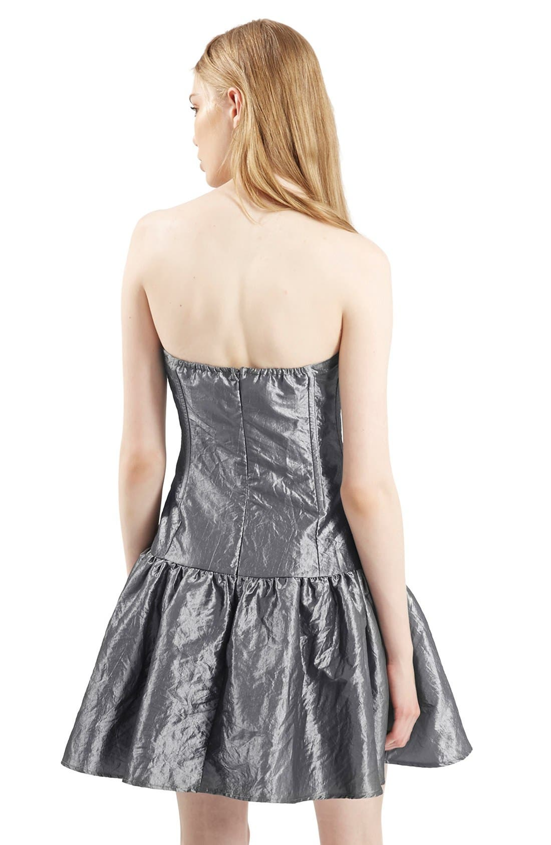 Alternate Image 2  - Topshop Archive Collection Taffeta Prom Dress