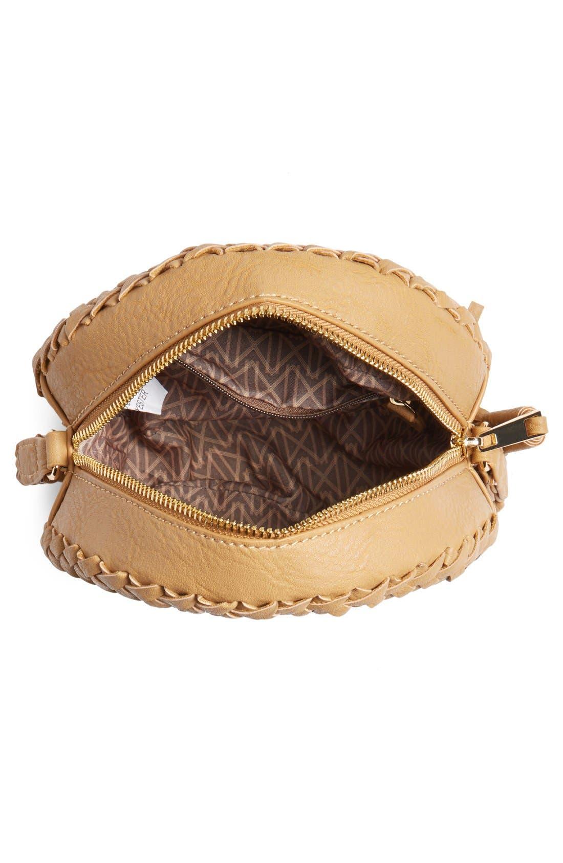 Alternate Image 4  - Big Buddha Faux Leather Round Crossbody Bag