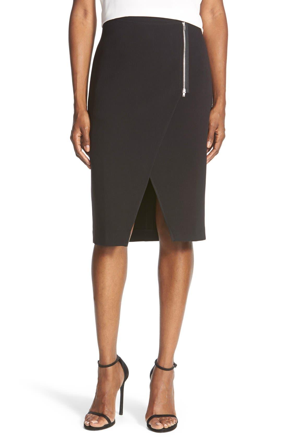 Main Image - TrouvéWrap Front Pencil Skirt