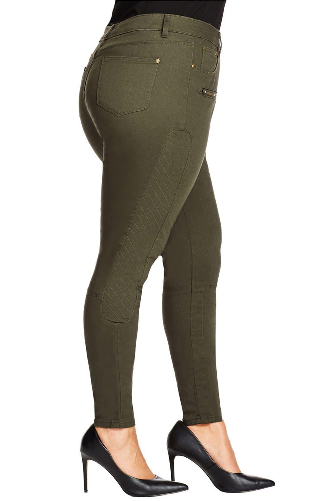 Alternate Image 4  - City Chic 'Commando' Khaki Pants (Plus Size)