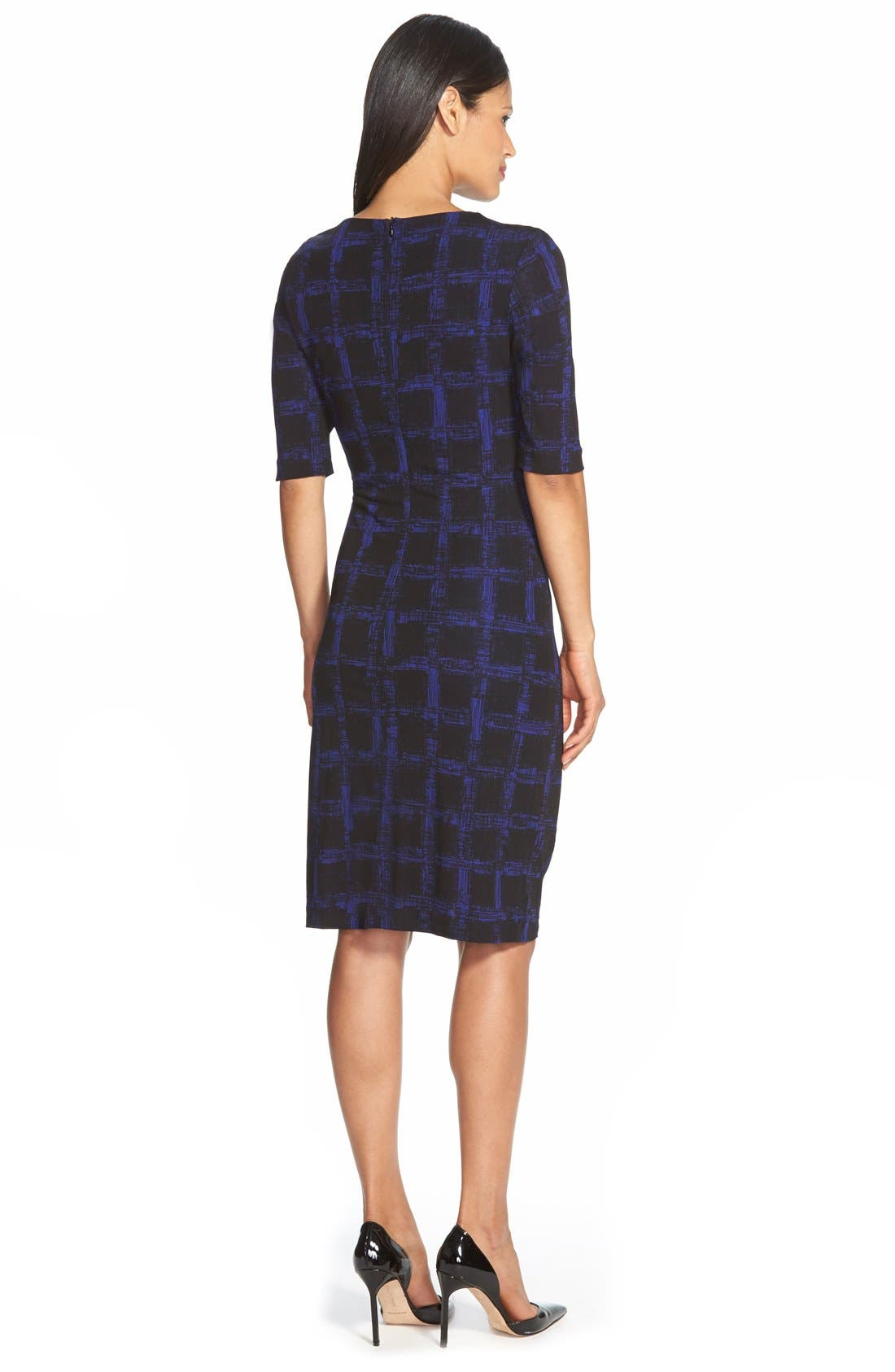 Alternate Image 2  - BOSS 'Empiria' Windowpane Print Jersey Sheath Dress
